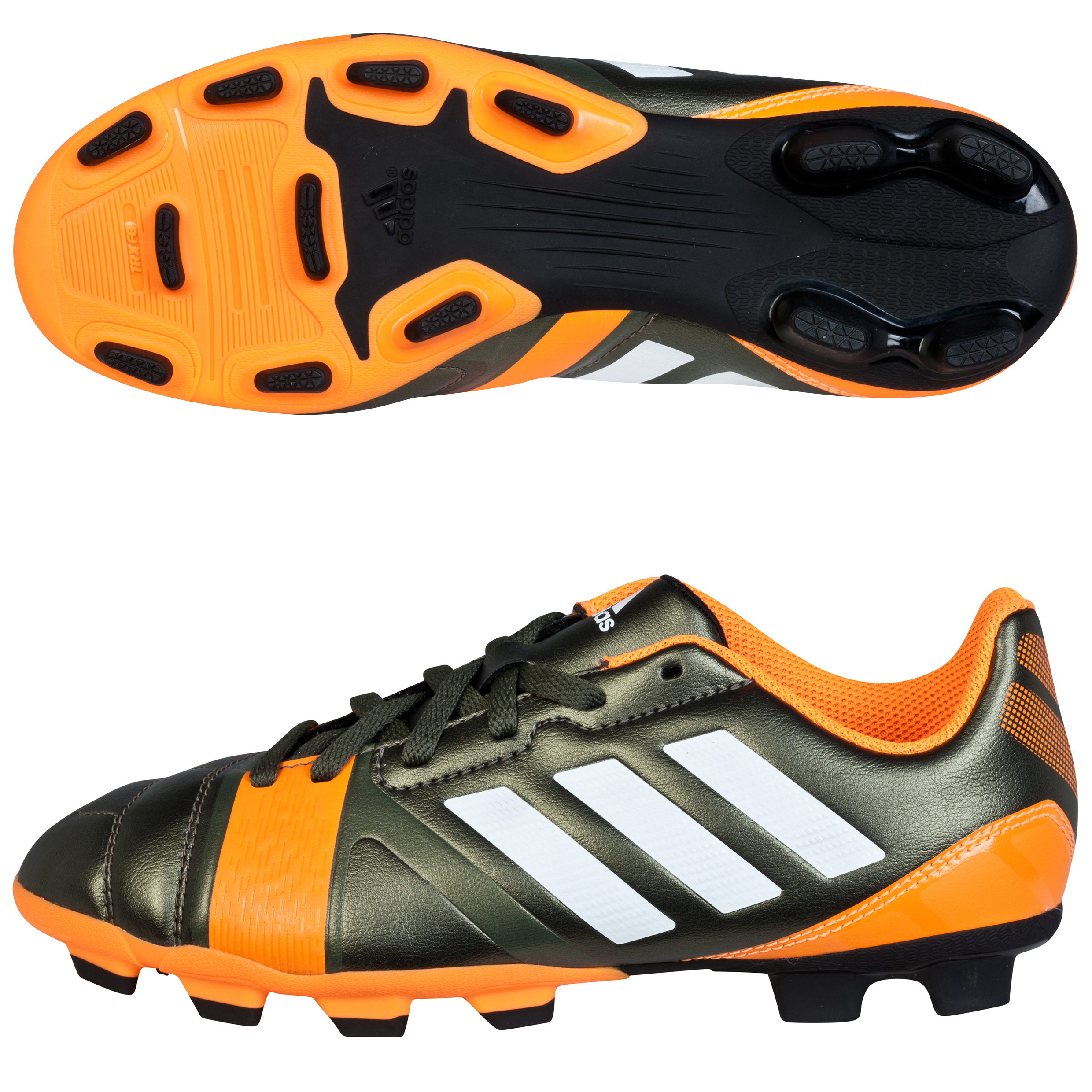 adidas Nitrocharge 3.0 TRX Firm Ground Football Boots - Kids Dk Green