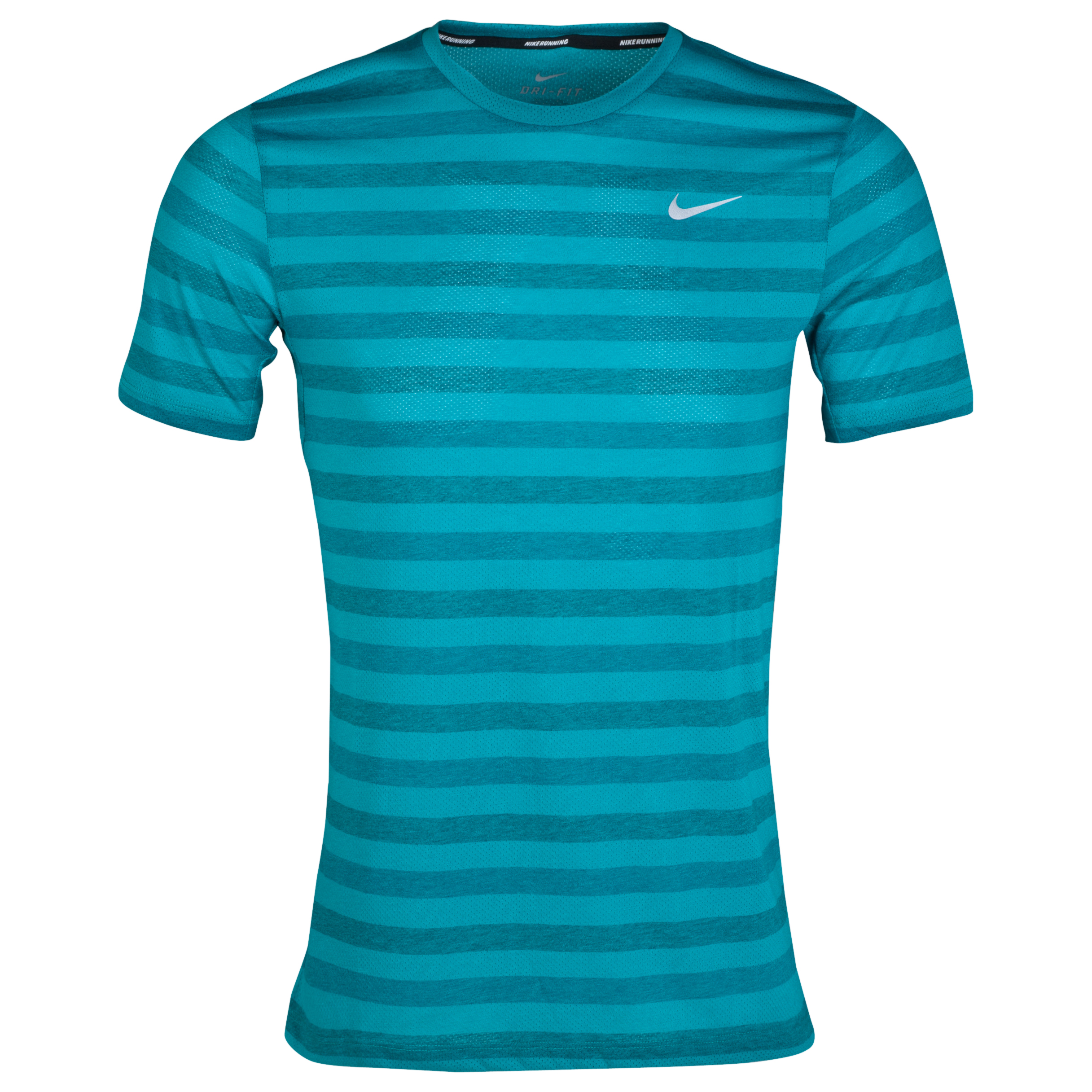 Nike Nike DriFit Touch Tailwind Striped T-Shirt Green