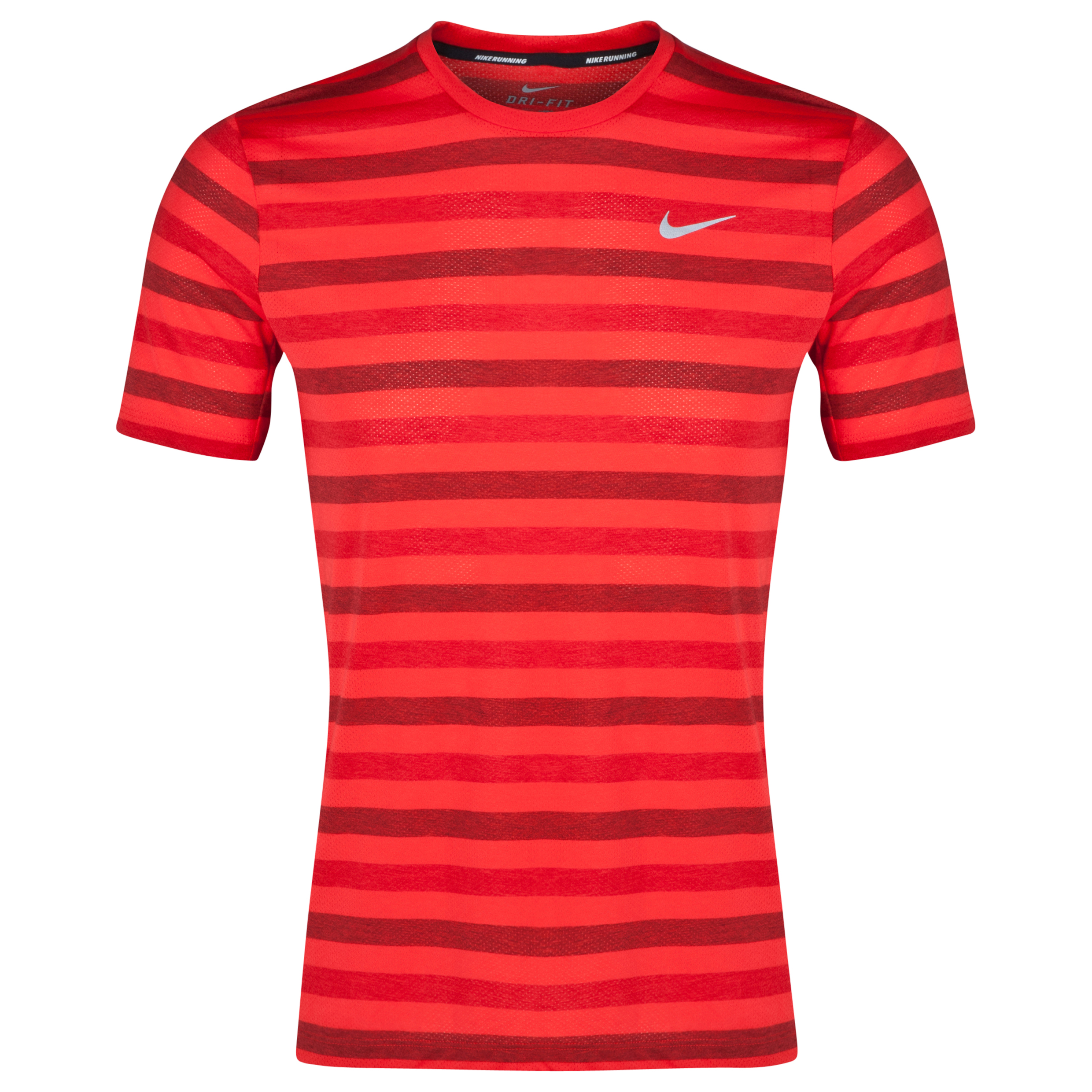 Nike DriFit Touch Tailwind Striped T-Shirt Red