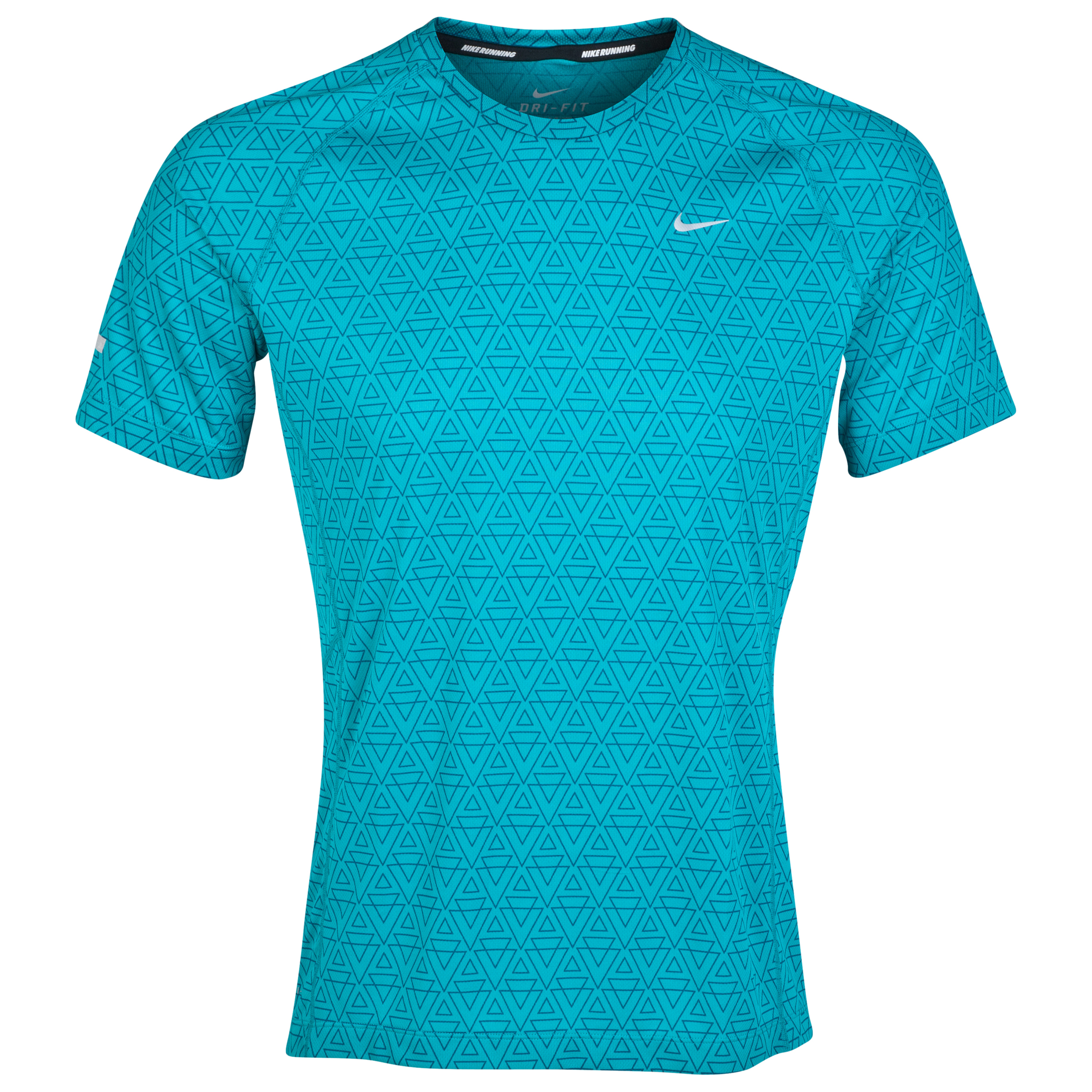 Nike Printed Miler T-Shirt Green