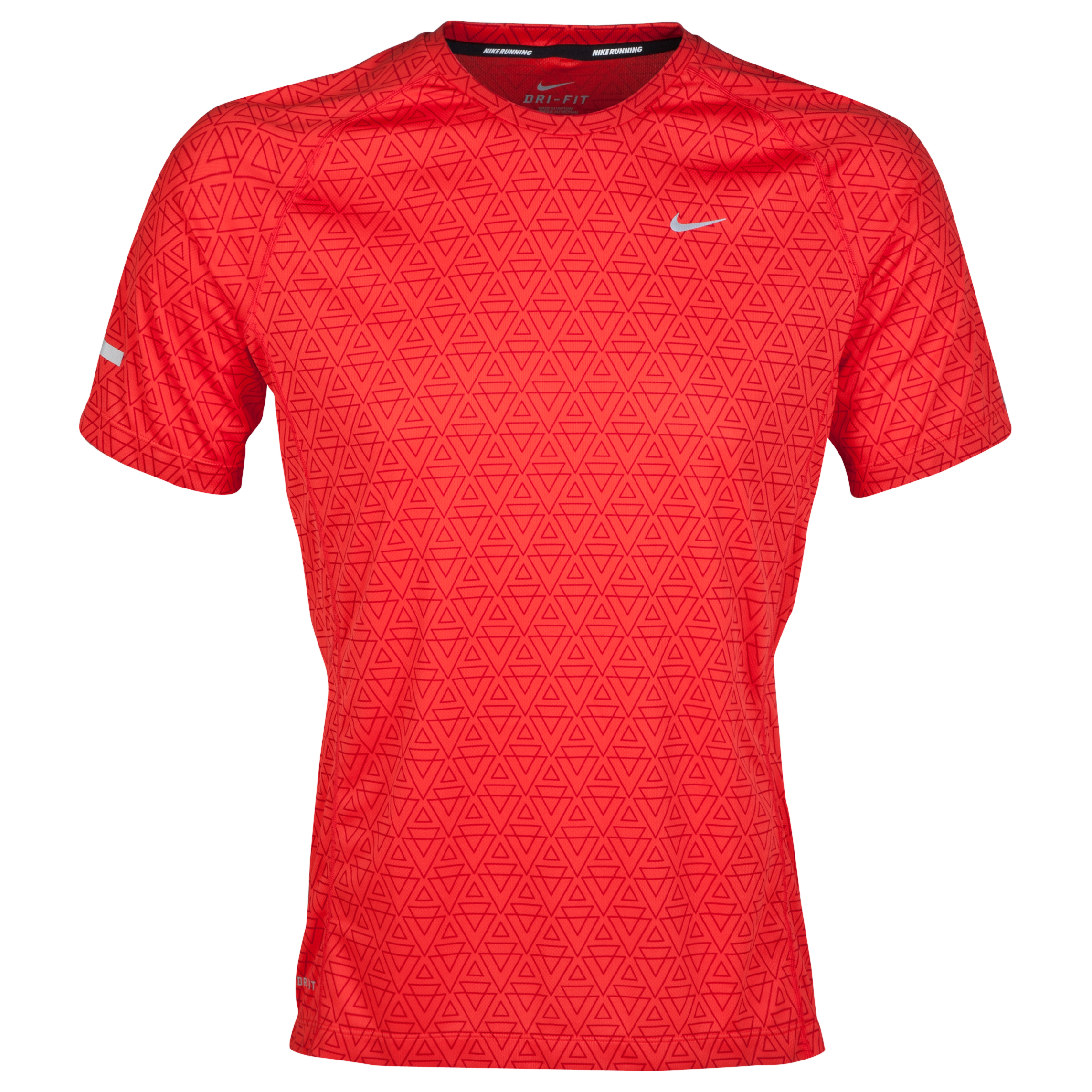 Nike Printed Miler T-Shirt Red