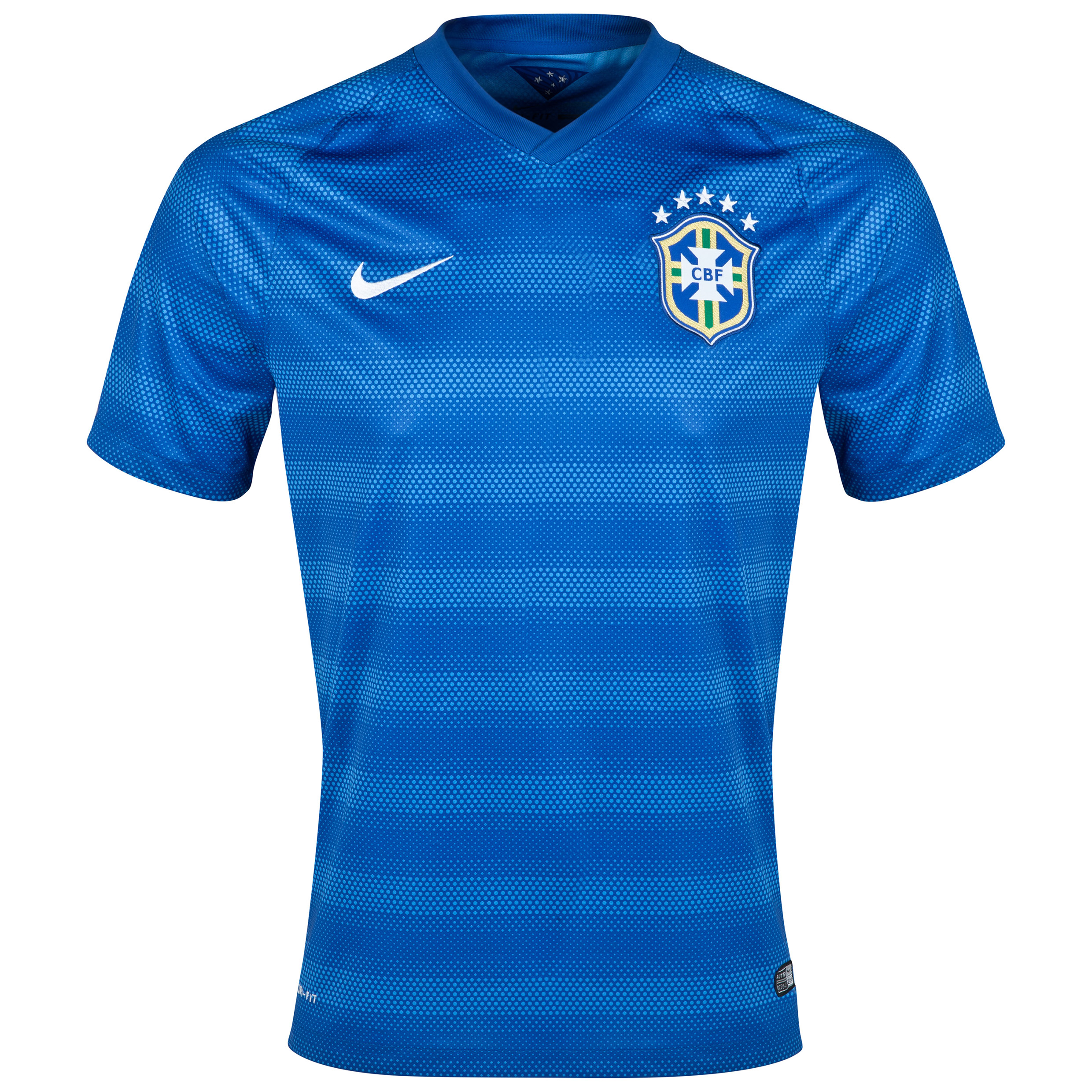 Brazil Away Shirt Royal Blue - Kids 2014