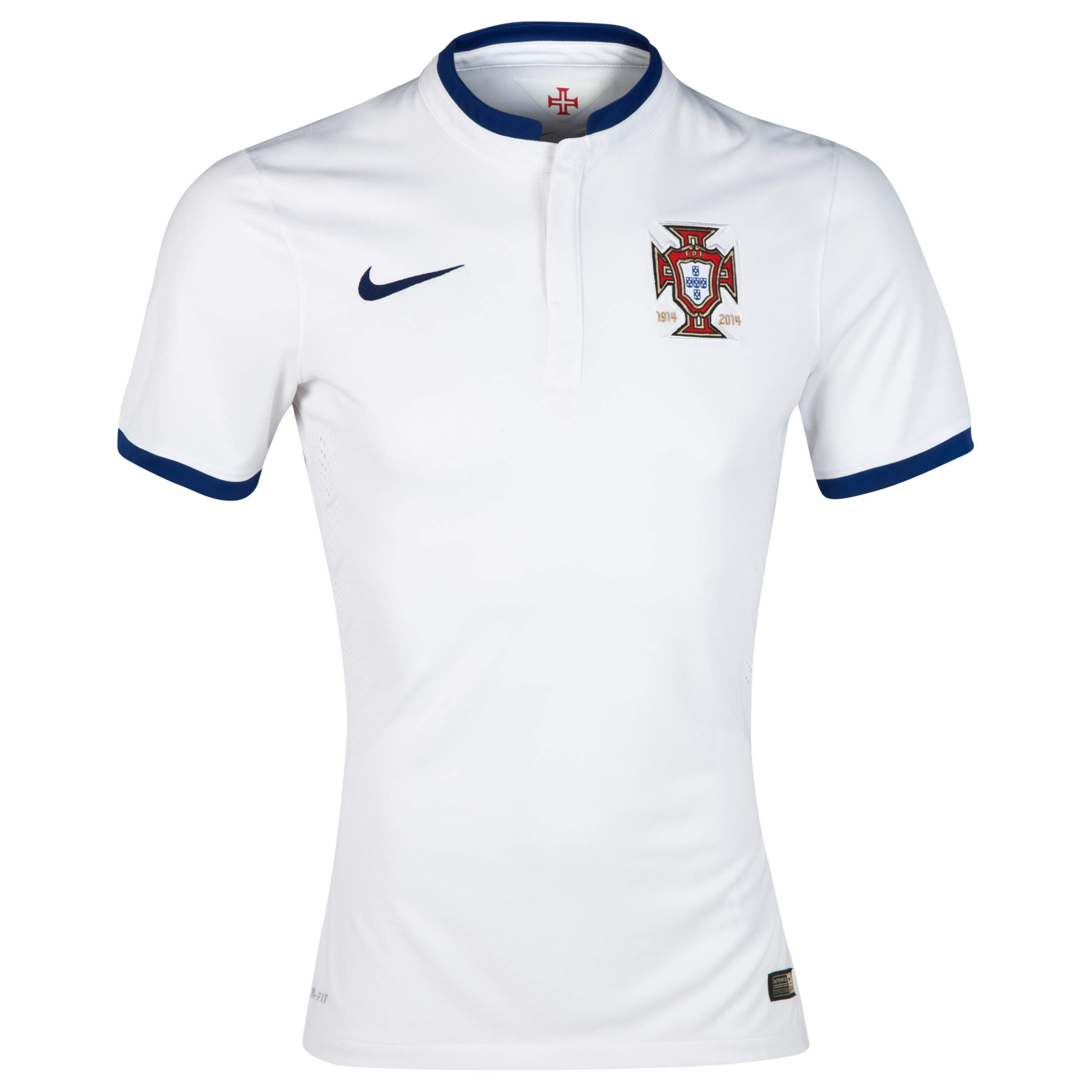 Portugal Authentic Away Shirt 2014 White