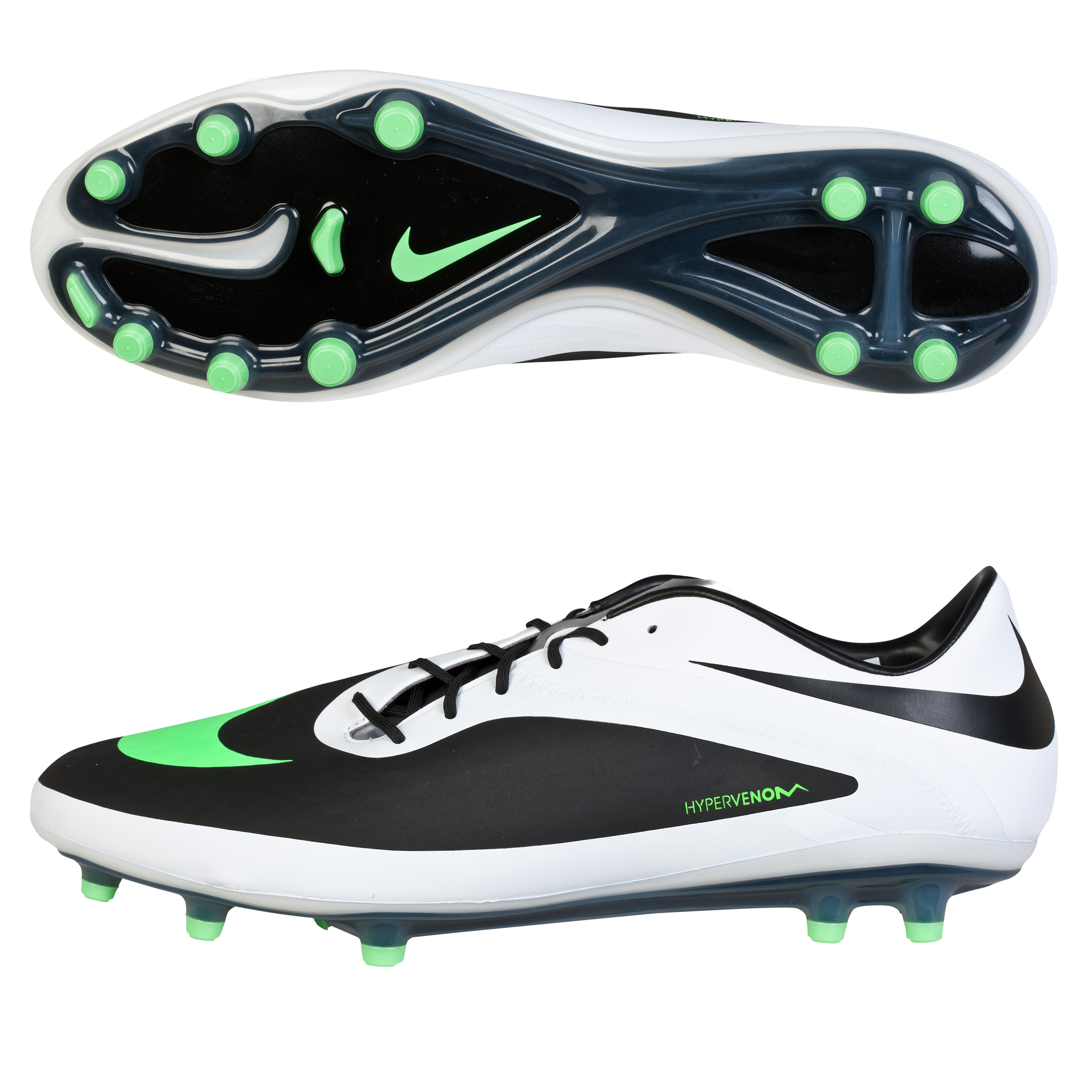 Nike Hypervenom Phatal Firm Ground Football Boots Black