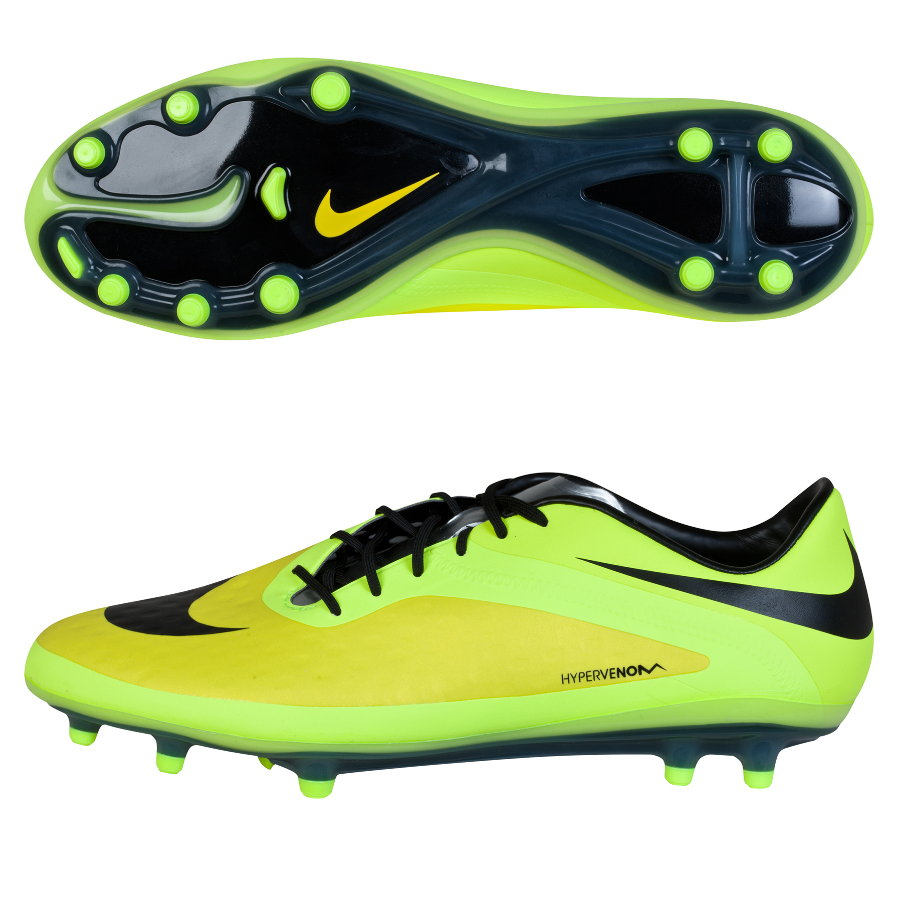 Nike Hypervenom Phatal Firm Ground Football Boots Yellow