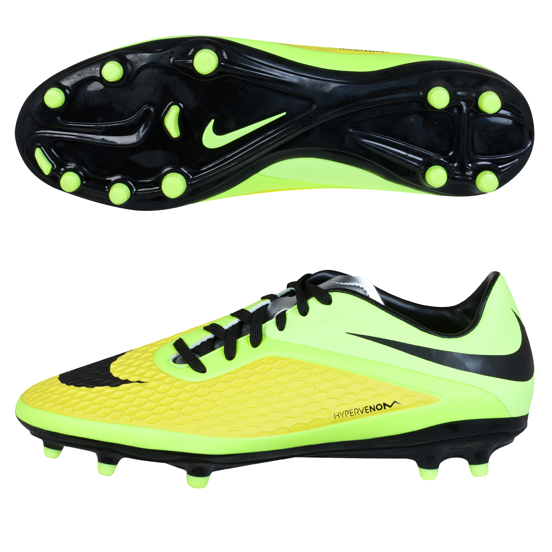 Nike Hypervenom Phelon Firm Ground Football Boots Yellow