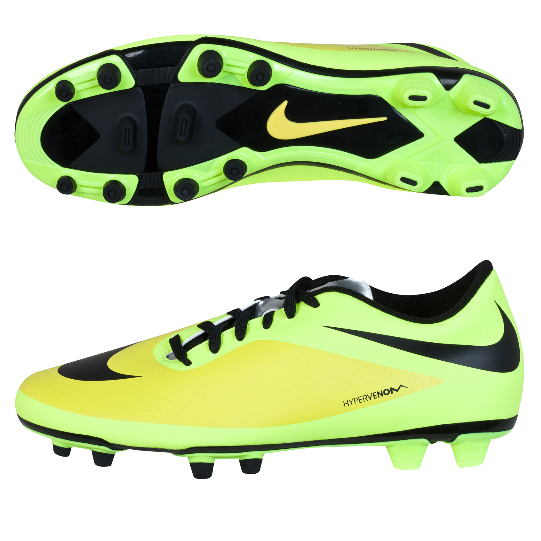 Nike Hypervenom Phade Firm Ground Football Boots Yellow