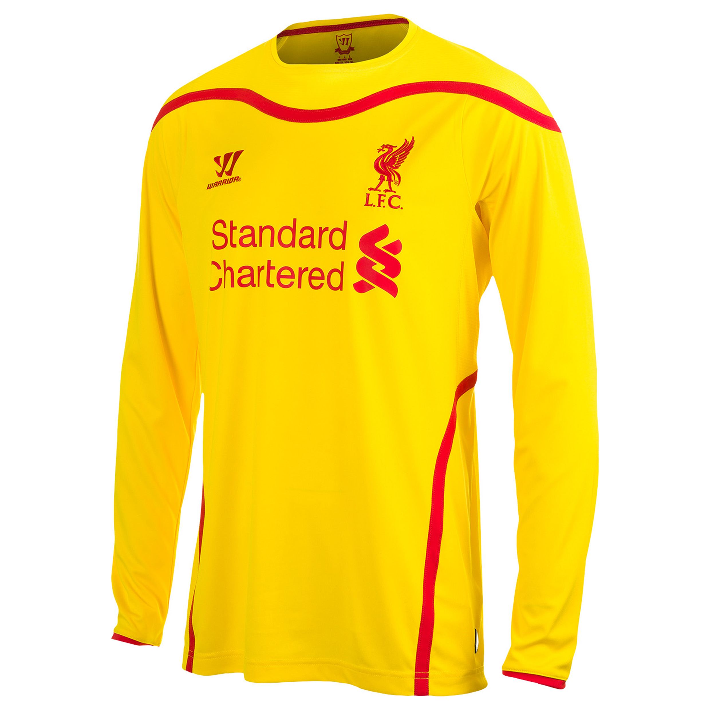 Buy Liverpool Away Kit 2014/15 Long Sleeve Kids Yellow