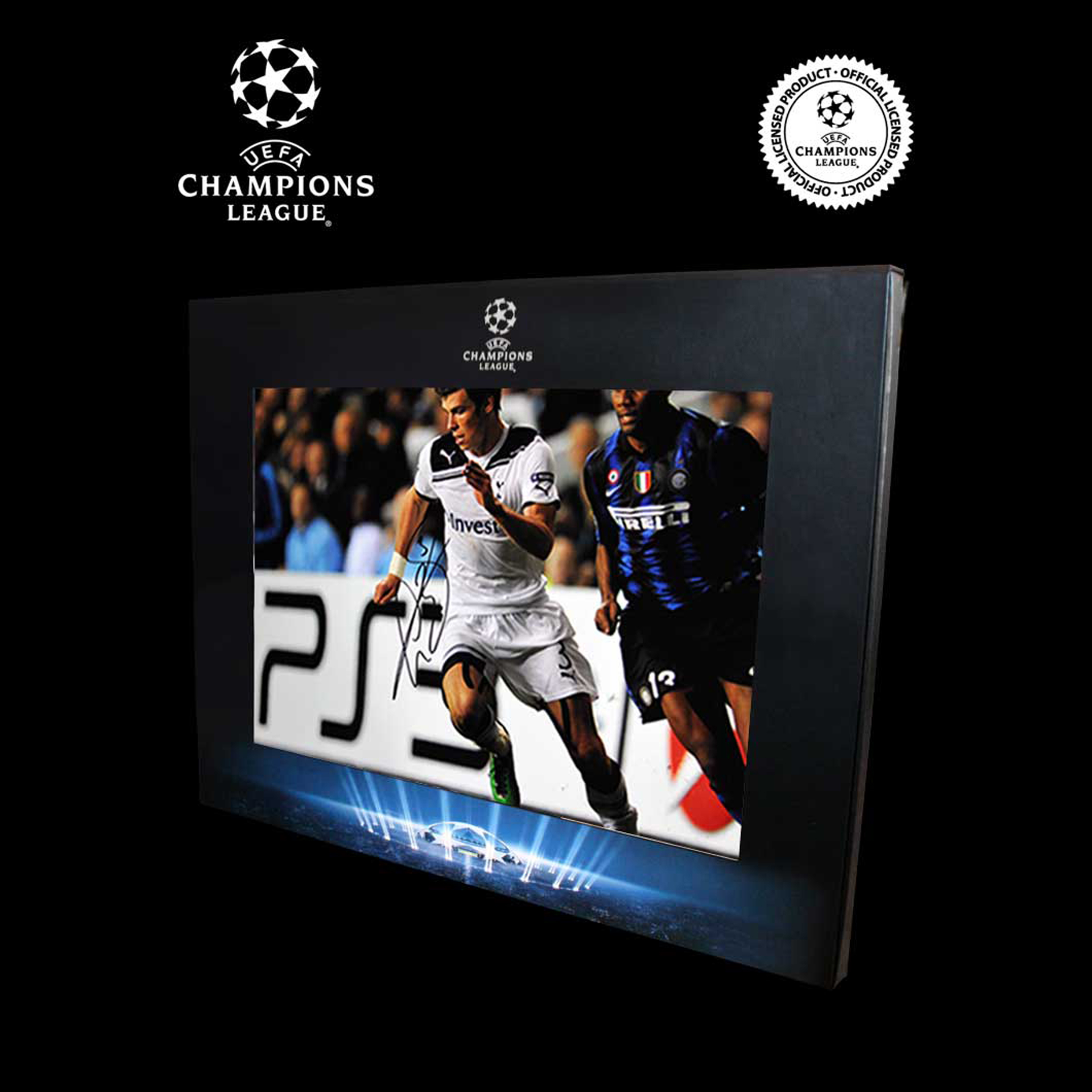 UEFA Champions League Gareth Bale Signed Photo in Deluxe Packaging: Bale v Inter Milan
