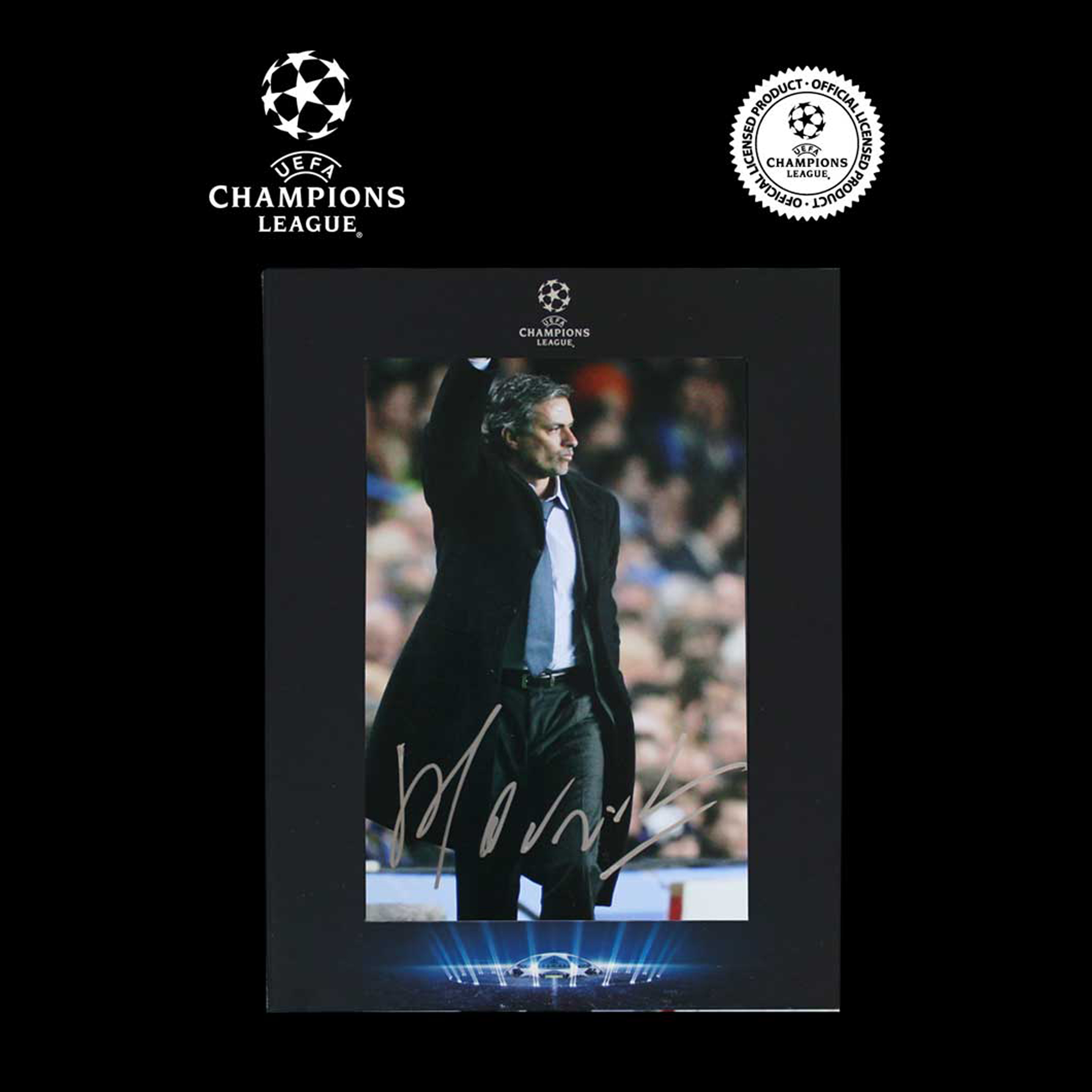 UEFA Champions League Jose Mourinho Signed Chelsea Photo in Deluxe Packaging: The Special One