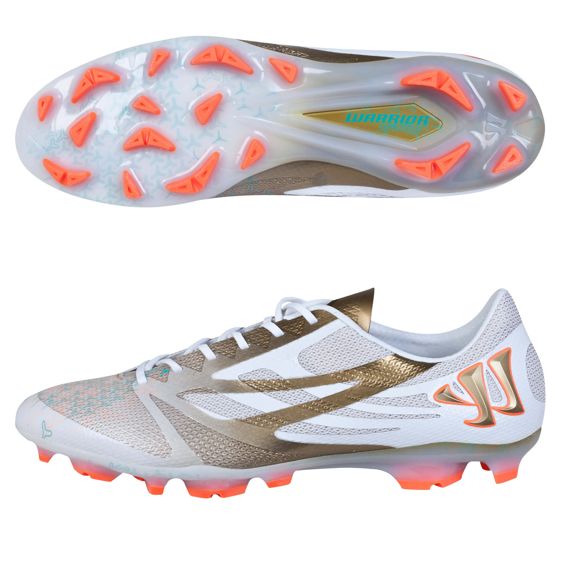 Warrior Superheat S-Lite Firm Ground White