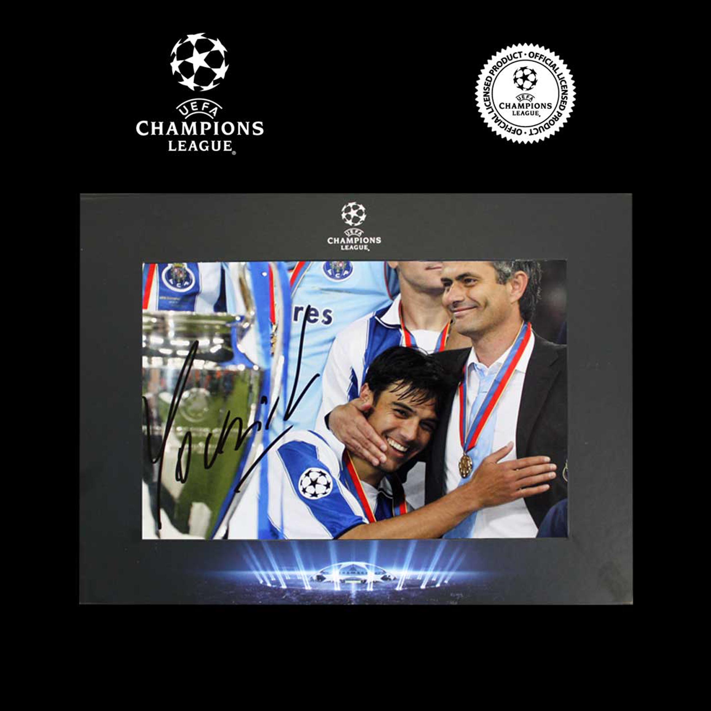 UEFA Liga de Campeones fotografía firmada de Jose Mourinho en presentación de lujo: Porto campeones