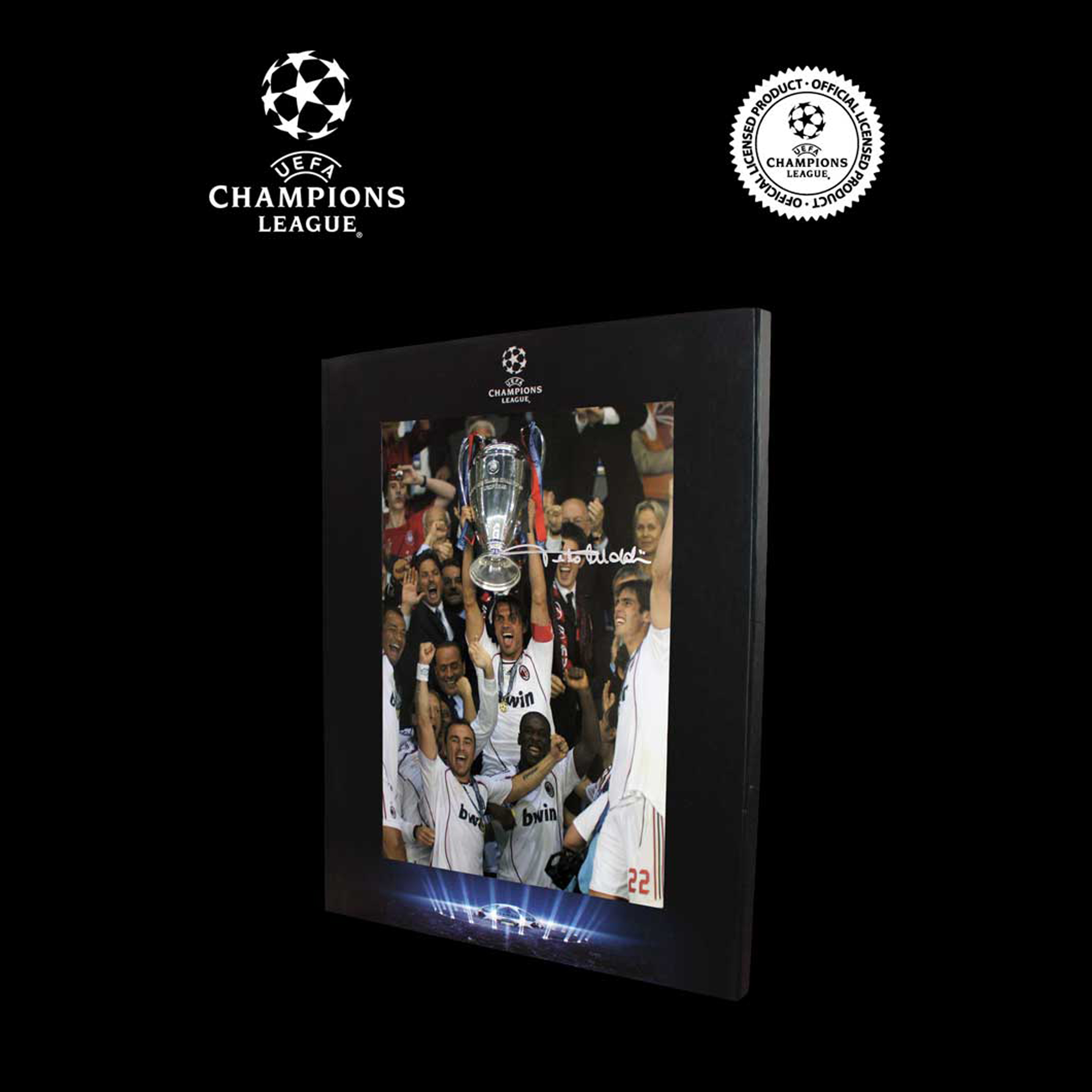 UEFA Champions League Paolo Maldini Signed AC Milan Photo In Deluxe Packaging: 2007 Final