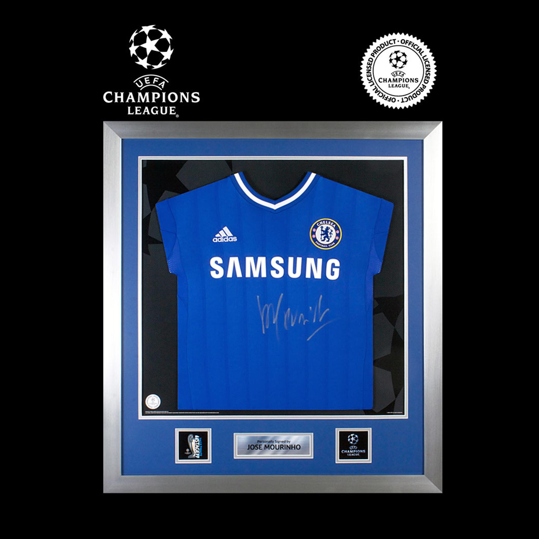 UEFA Champions League - camiseta del Chelsea 2013/14 firmada por  Jose Mourinho