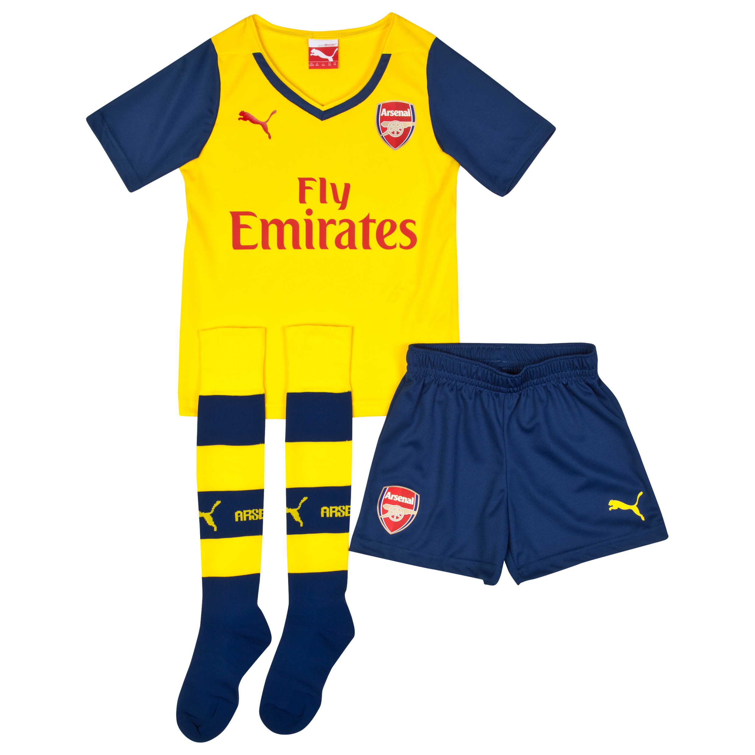 Arsenal Away Mini Kit 201415 Yellow