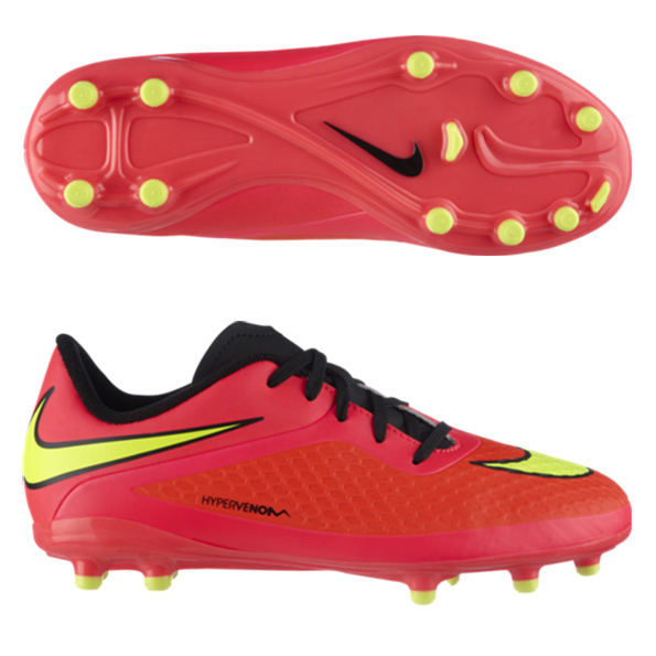 Nike Hypervenom Phelon Firm Ground Football Boots - Kids Red