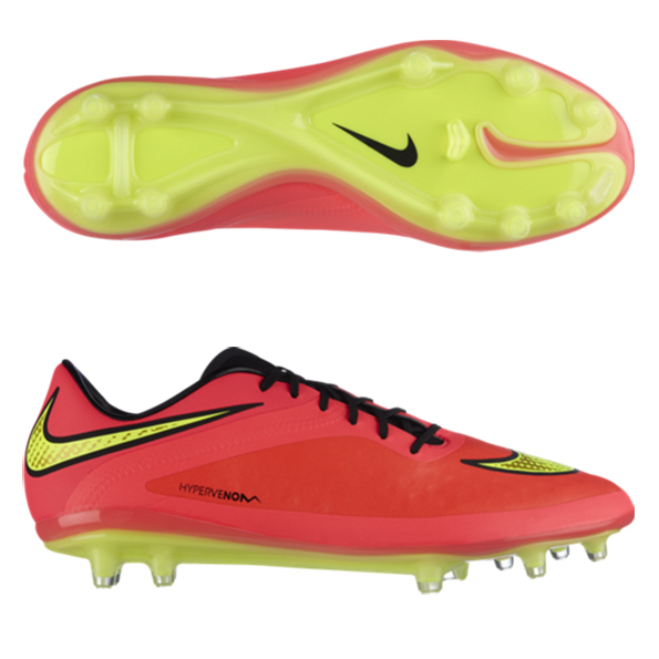 Nike Hypervenom Phatal Firm Ground Football Boots Red