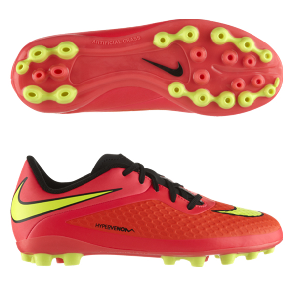 Nike Hypervenom Phelon Artificial Grass Football Boots - Kids Red