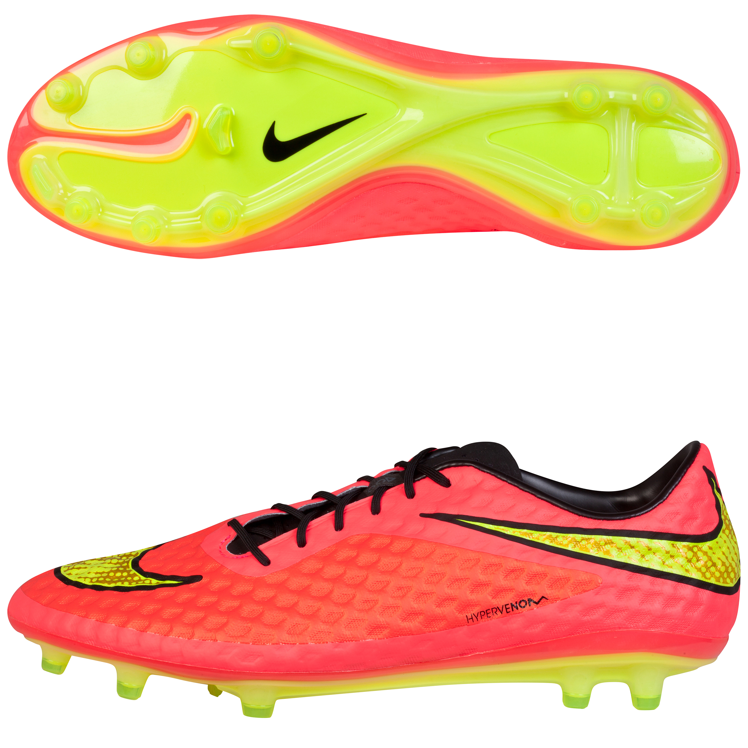 Nike Hypervenom Phantom Firm Ground Football Boots Red