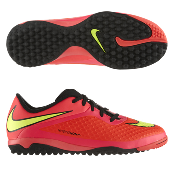 Nike Hypervenom Phelon Astroturf Trainers - Kids Red
