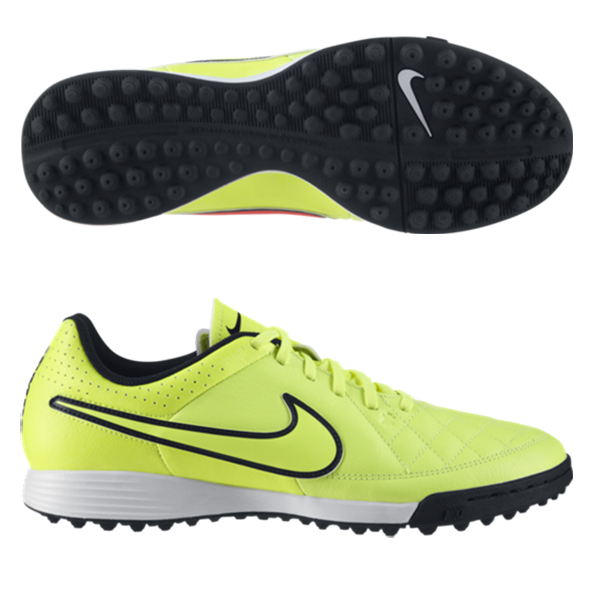 Nike Tiempo Genio Leather Astroturf Trainers Yellow