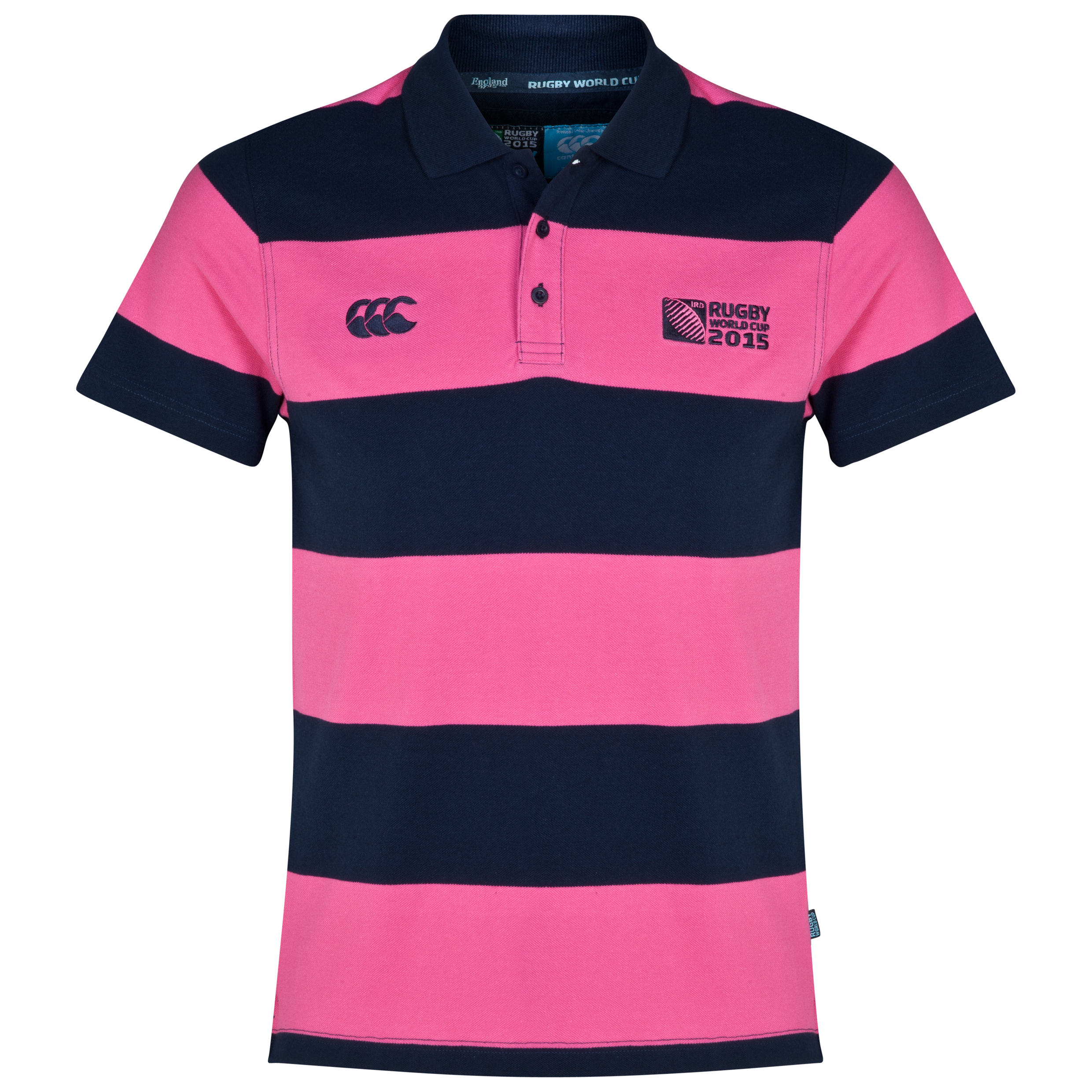 Canterbury Rugby World Cup Hoop Stripe Polo Navy