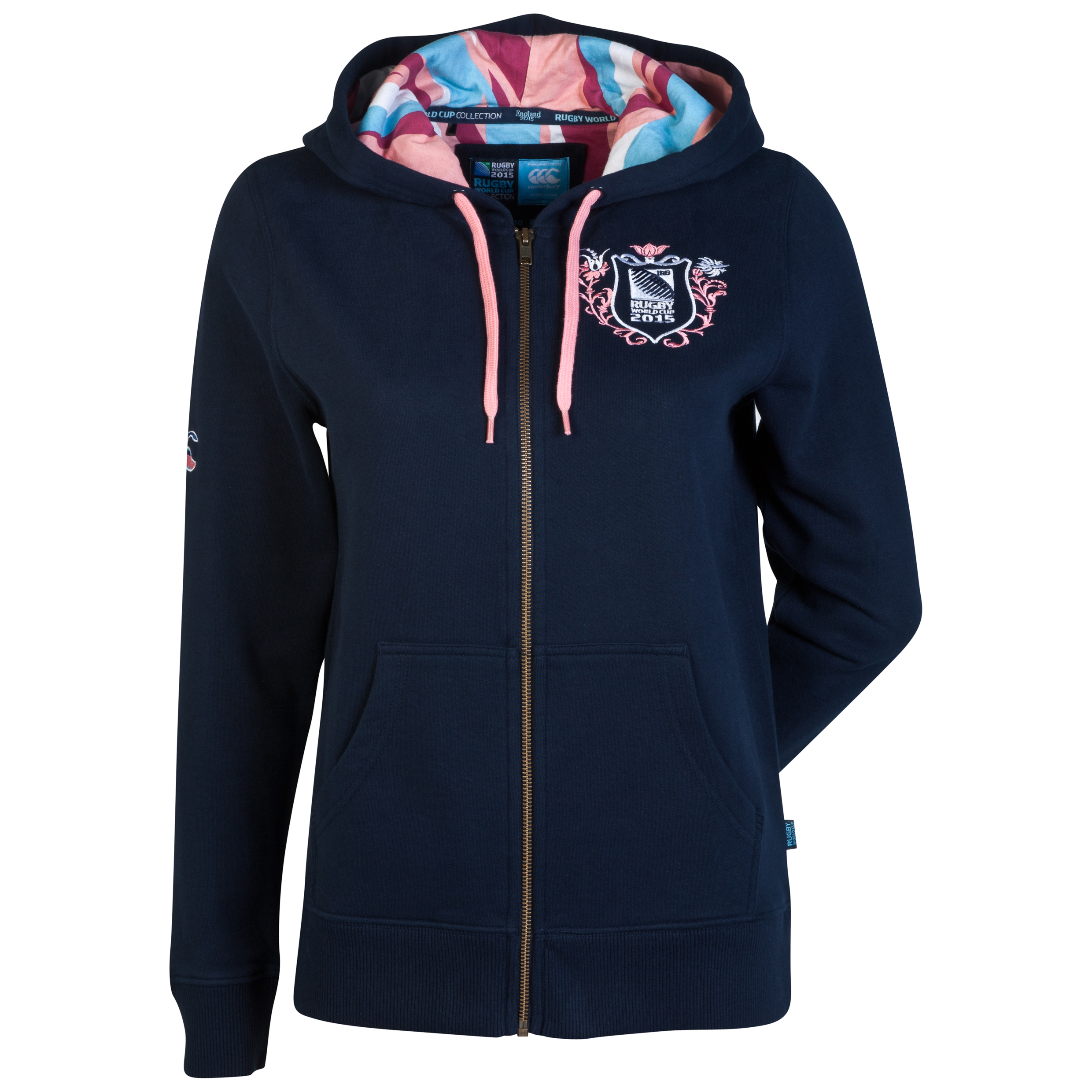 Canterbury Rugby World Cup Legacy Zip Up Hoody - Womens Navy