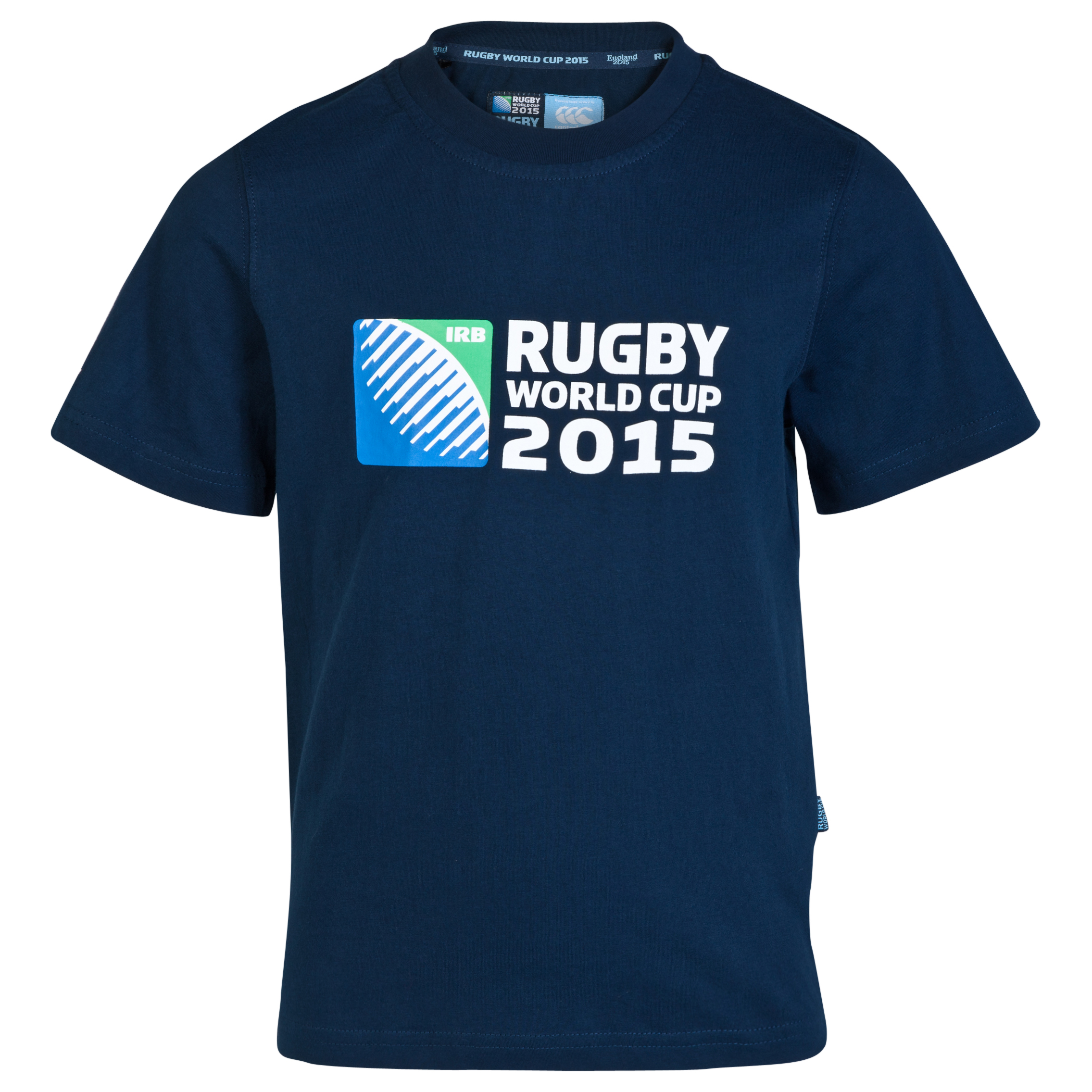 Canterbury Rugby World Cup 2015 Logo TShirt  Kids Navy