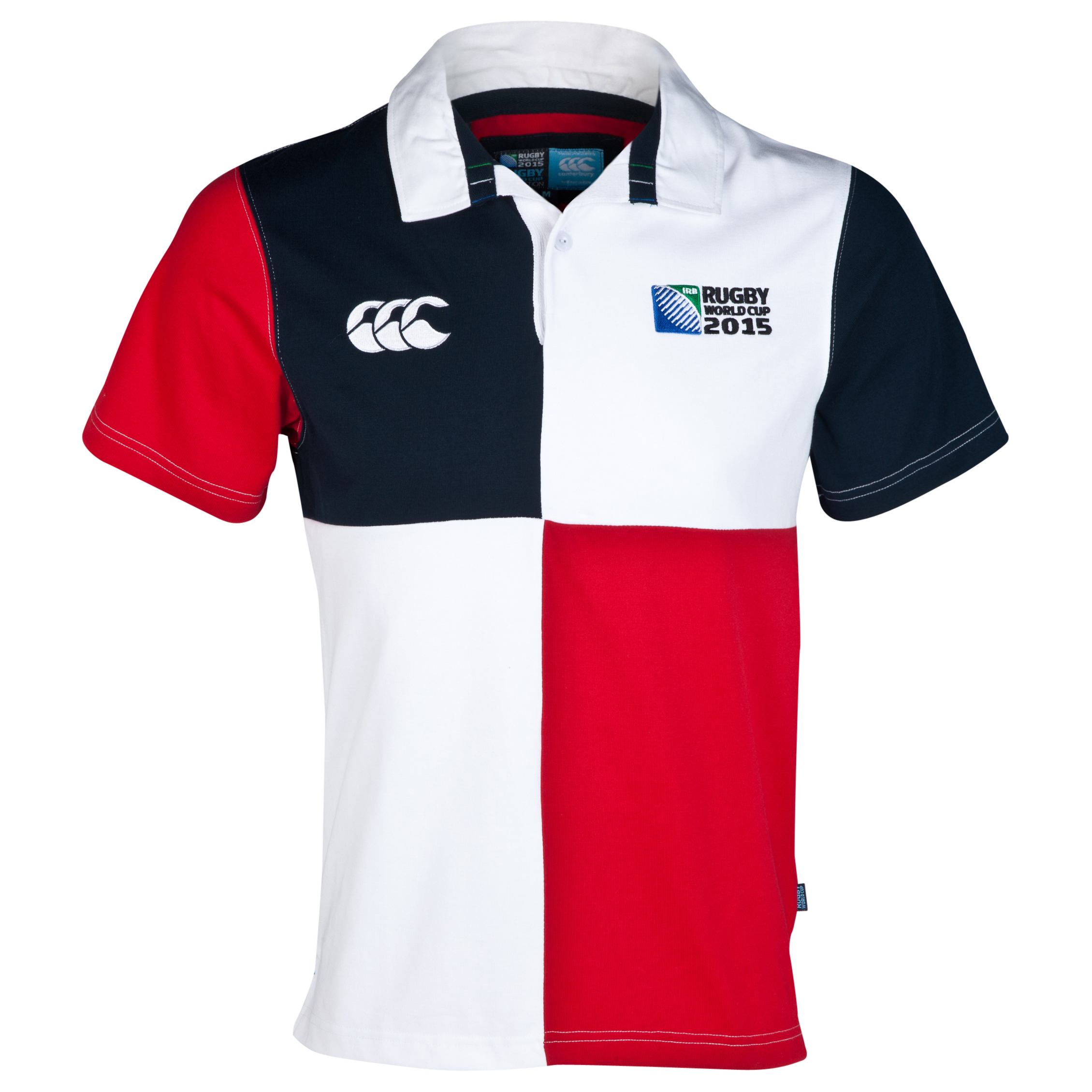 Canterbury Rugby World Cup Harlequin Short Sleeve Rugby Jersey White