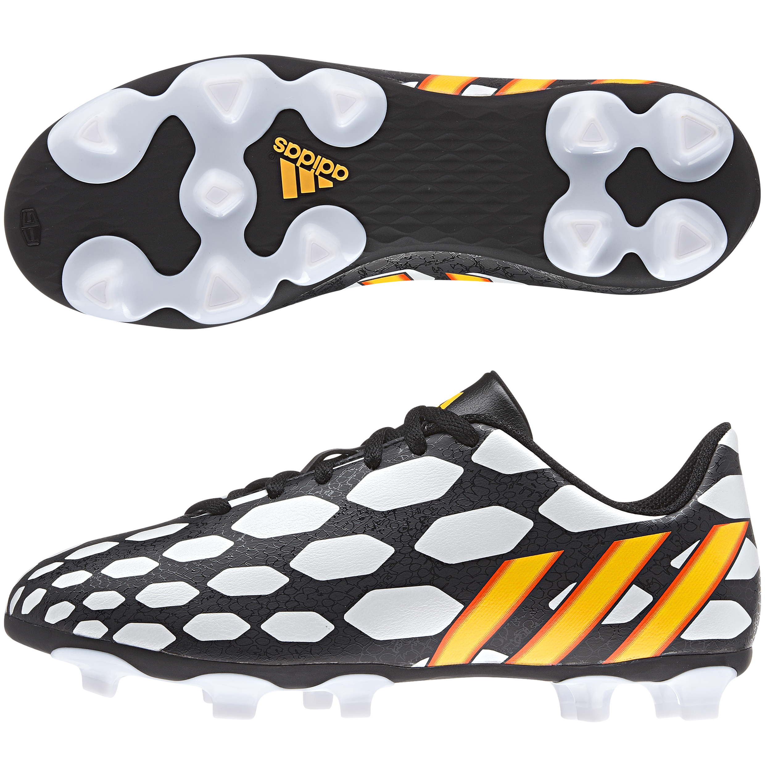 Adidas Predito LZ World Cup 2014 Firm Ground Football Boots - Kids Black