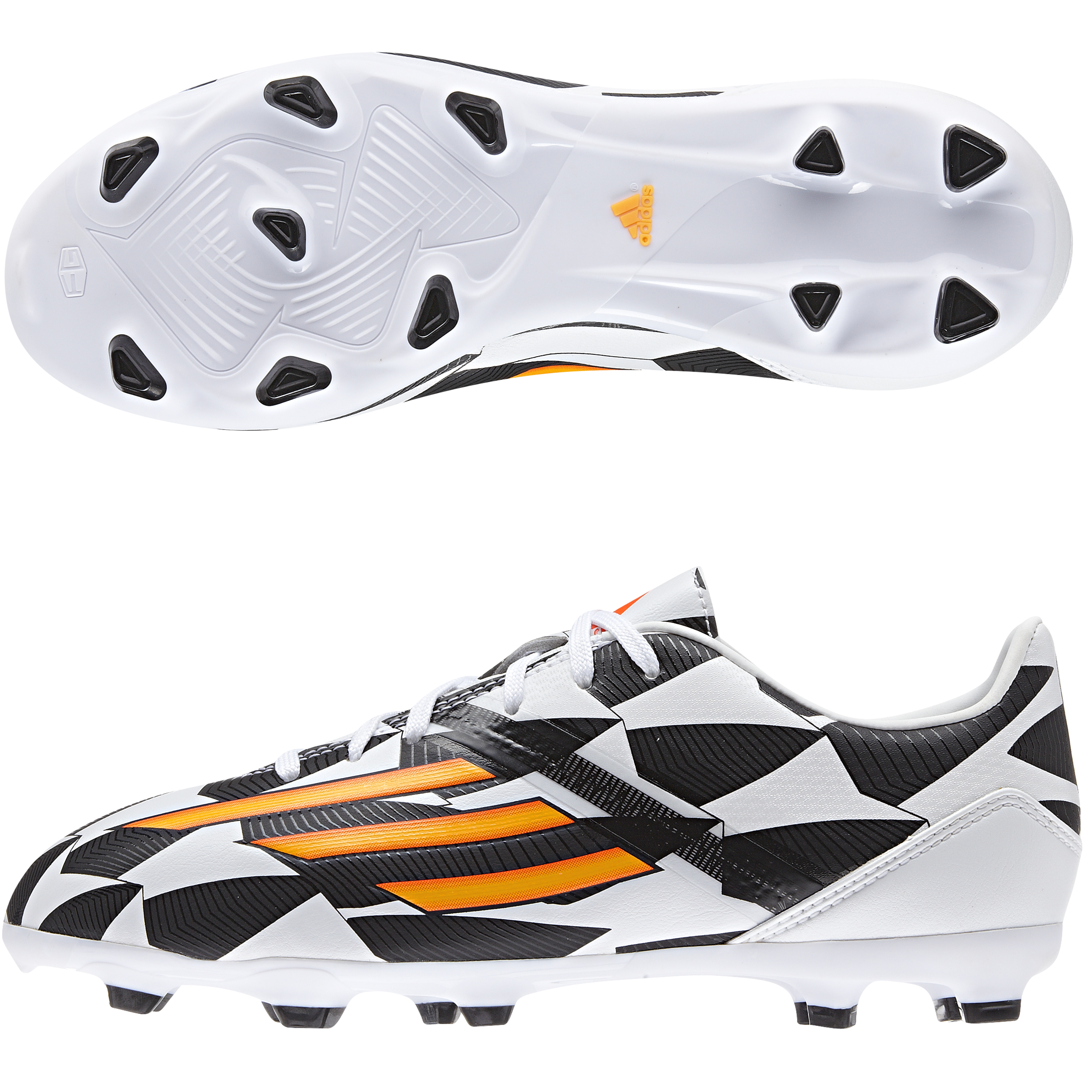 Adidas F10 World Cup 2014 Firm Ground Football Boots - Kids White