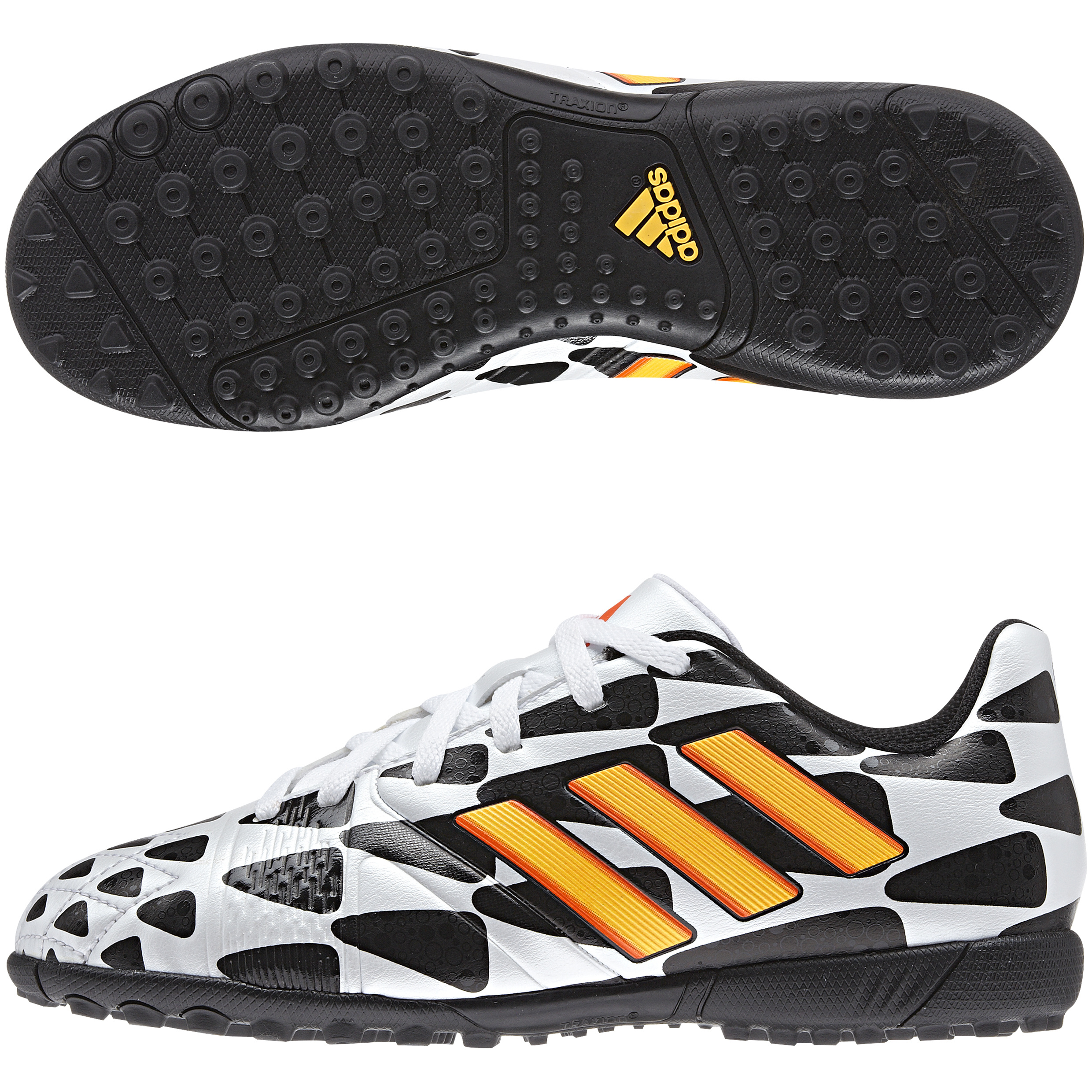 Adidas Nitrocharge 3.0 World Cup 2014 Astroturf Trainers - Kids White