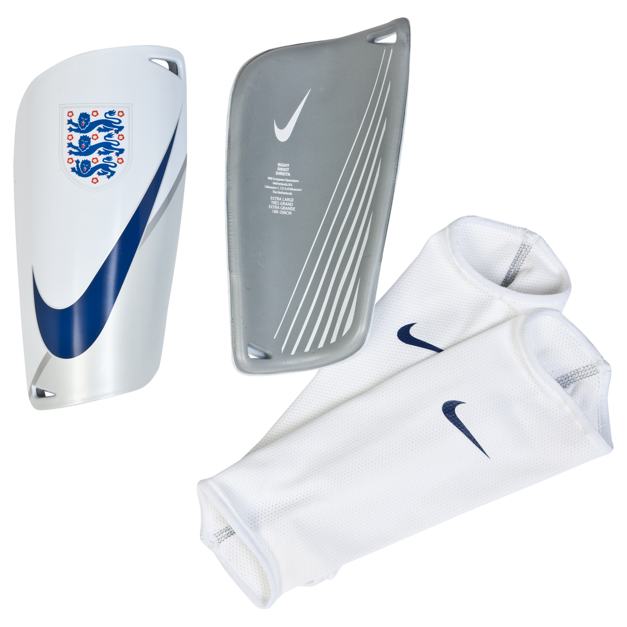 England Mercurial Lite Shinguards White