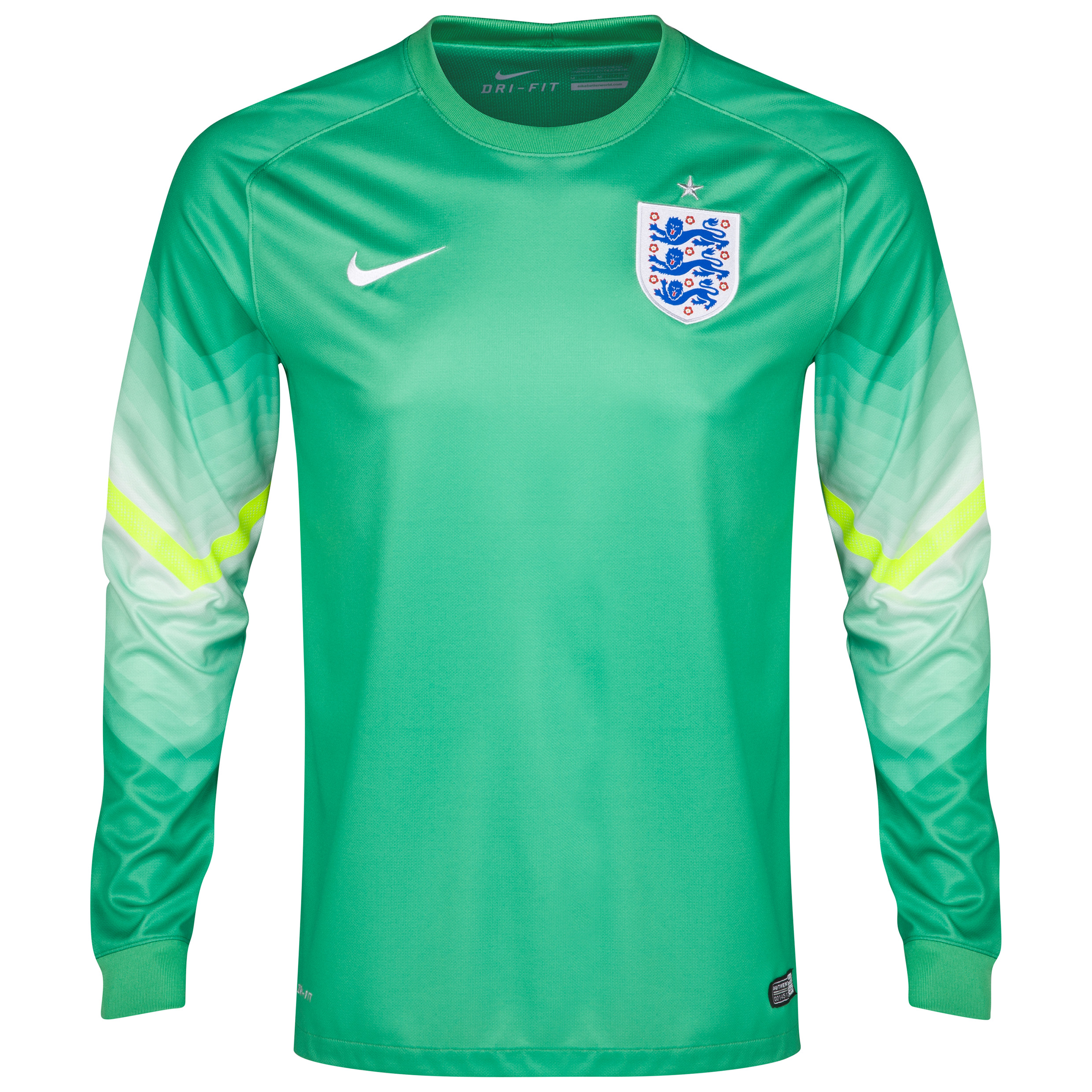 England Away Goalkeeper Shirt 2014 - Kids Lt Green