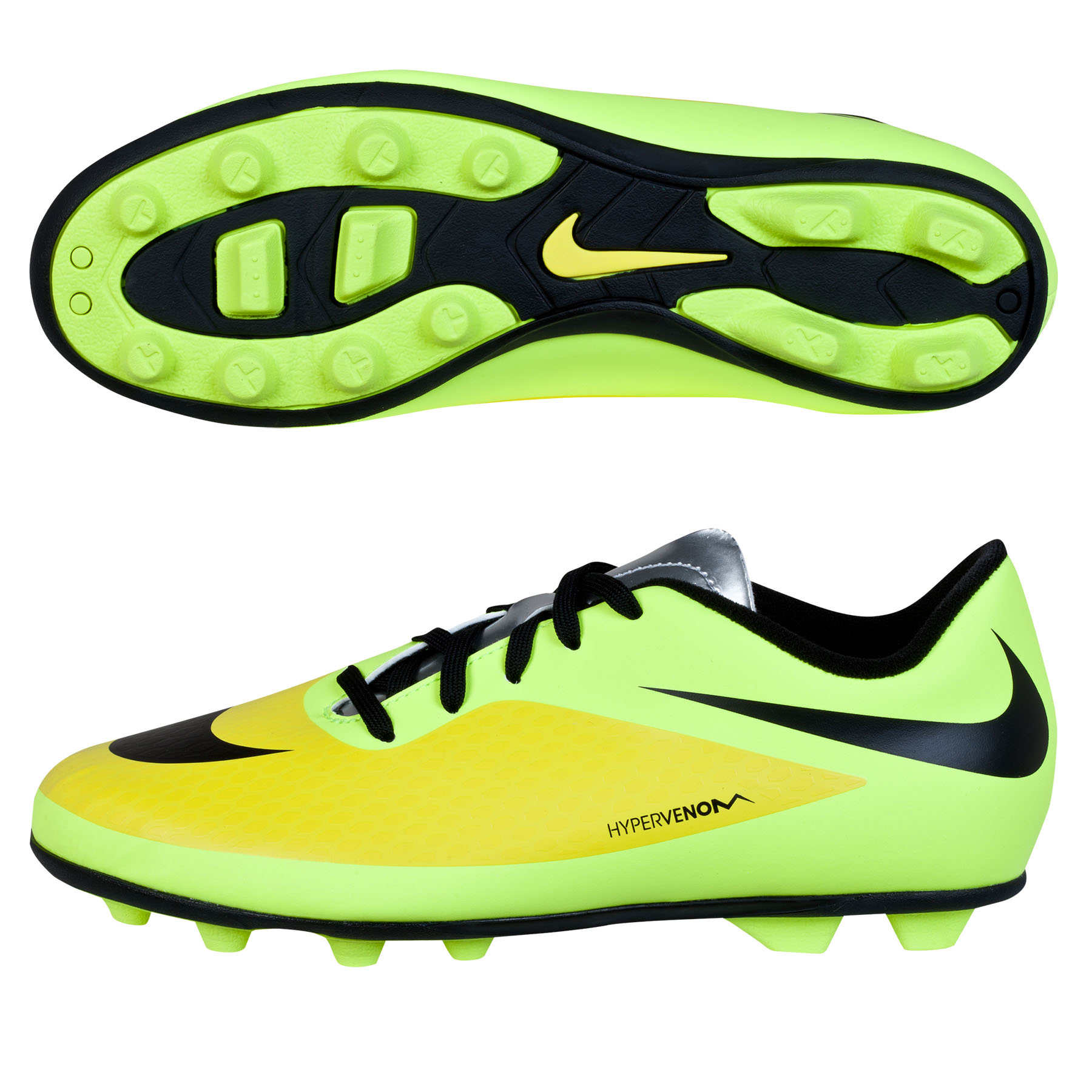 Nike Hypervenom Phade Firm Ground Football Boots Kids Yellow