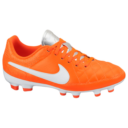 Nike Tiempo Genio Firm Ground Football Boots Kids Orange