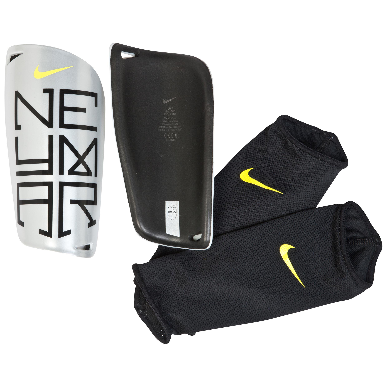 Nike Neymar Mercurial Lite Shin Pad Silver