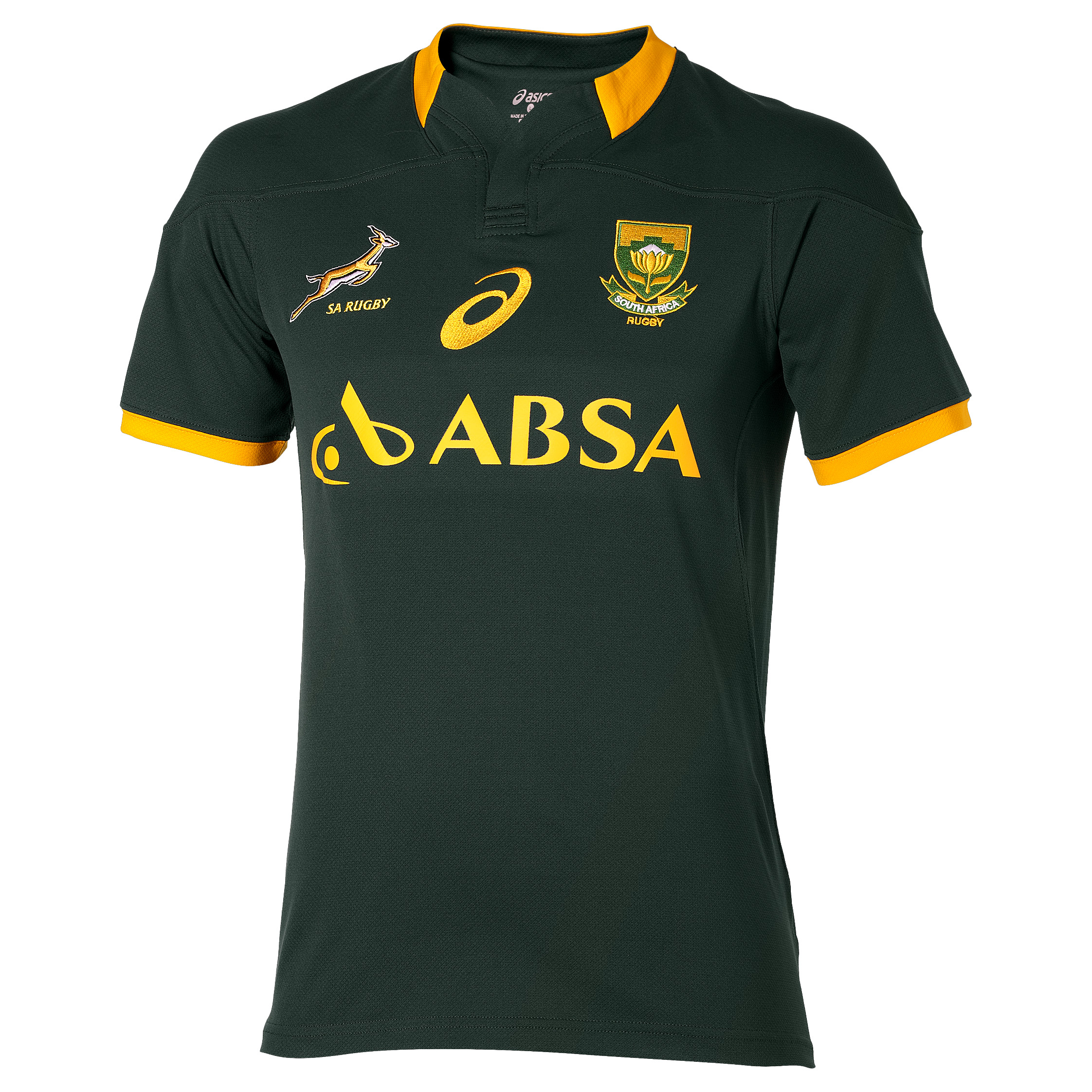 South Africa Springboks Home Replica Match Jersey 2014/15 Green