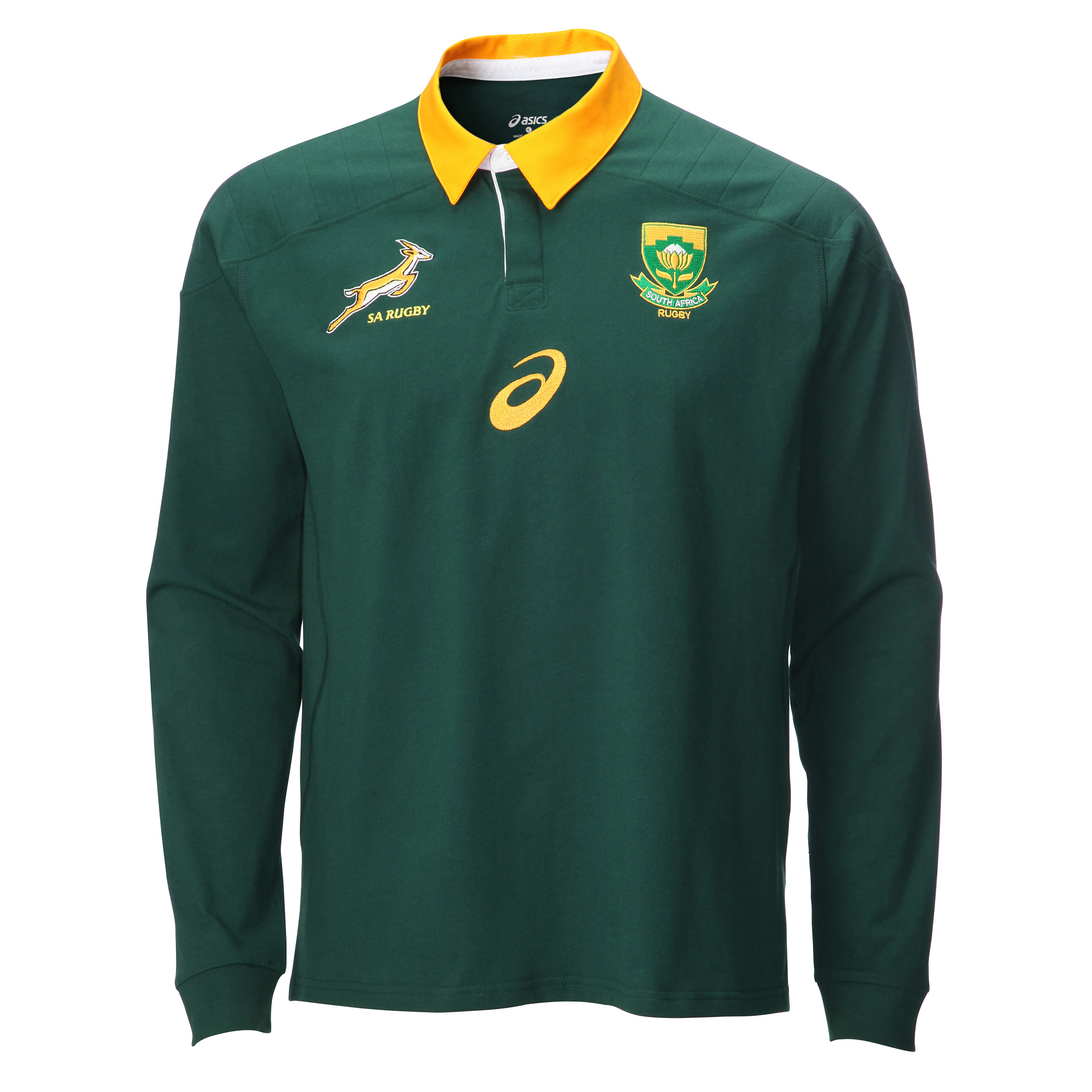 South Africa Springboks Classic Fan LS Polo Shirt Green