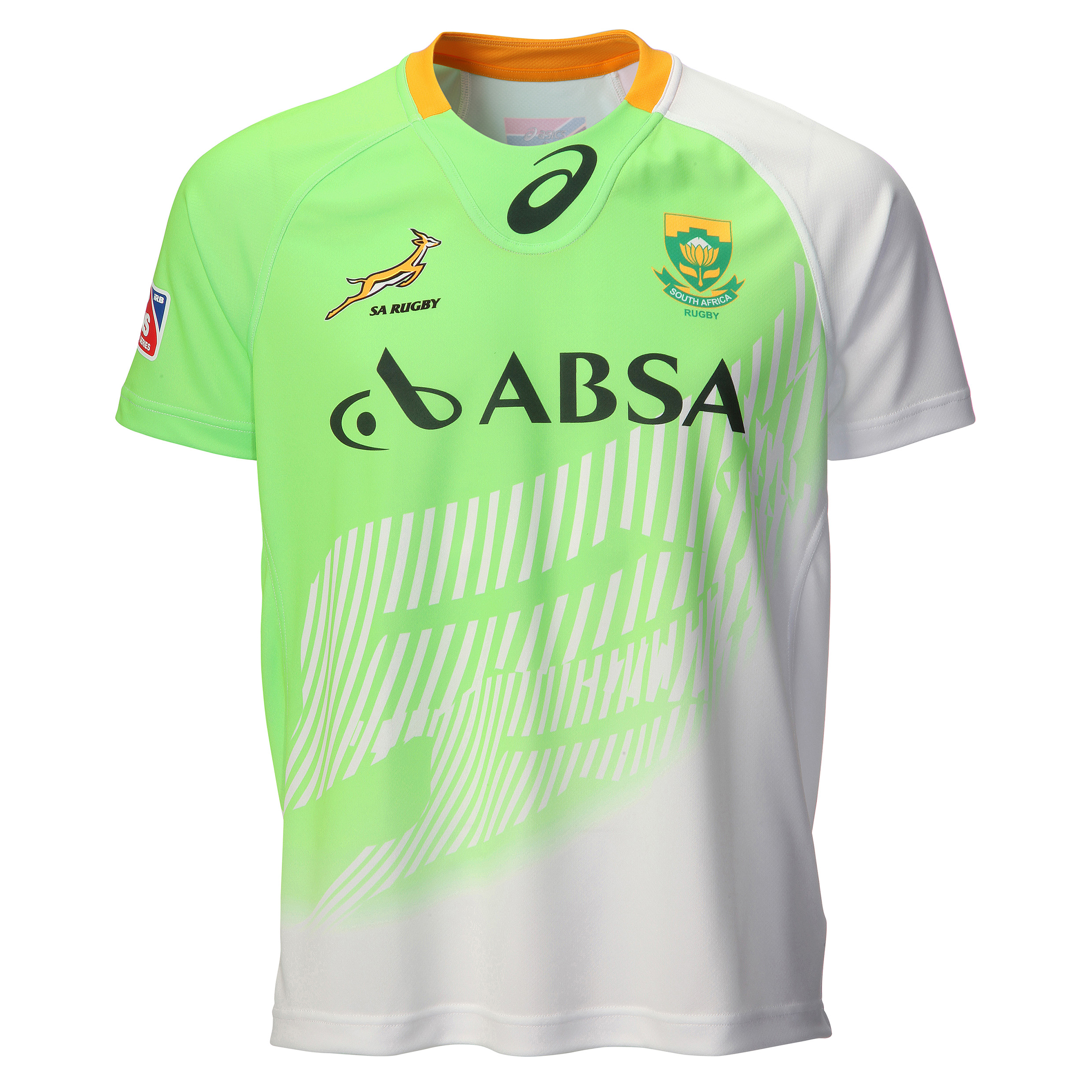 South Africa Springboks Sevens Home Replica Match Jersey 2014/15 Green
