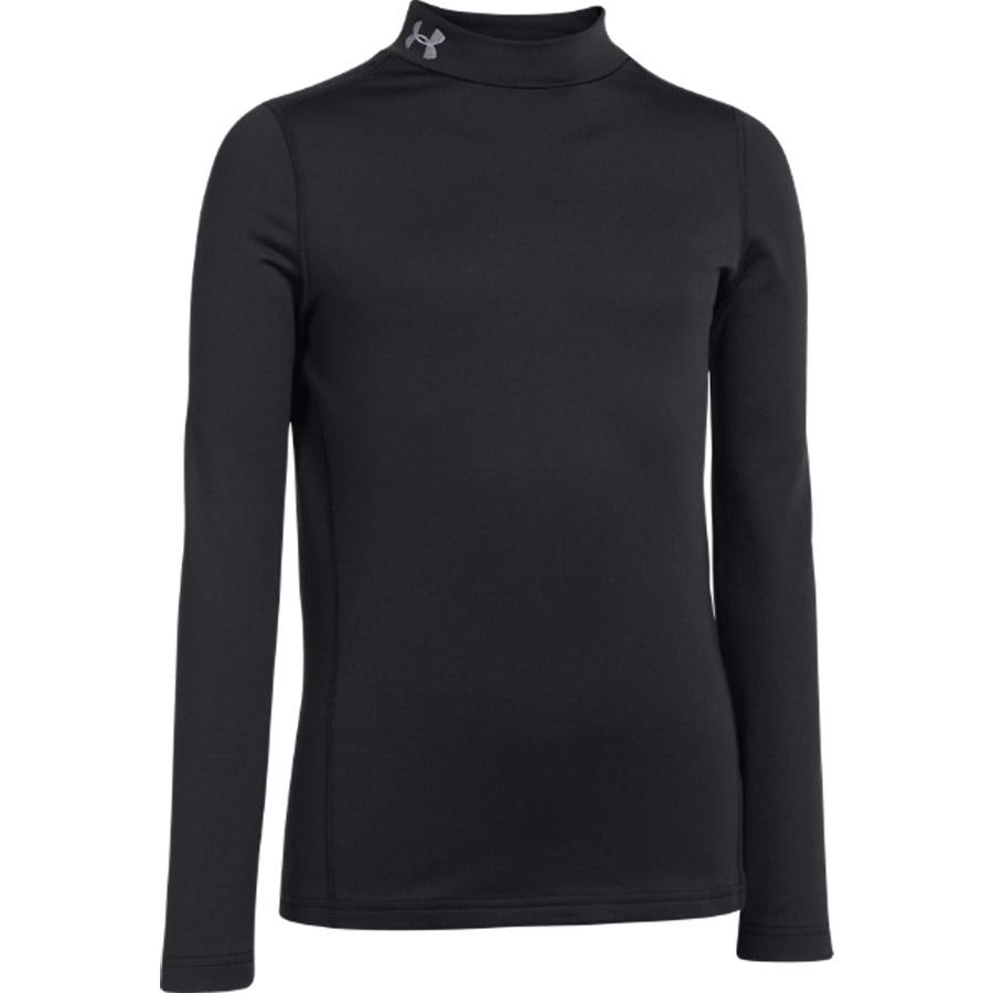 Under Armour Evo Coldgear Compression Mock Baselayer Top - Long Sleeve Black
