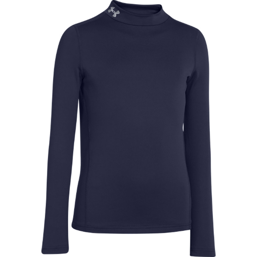 Under Armour Evo Coldgear Compression Mock Baselayer Top - Long Sleeve Navy