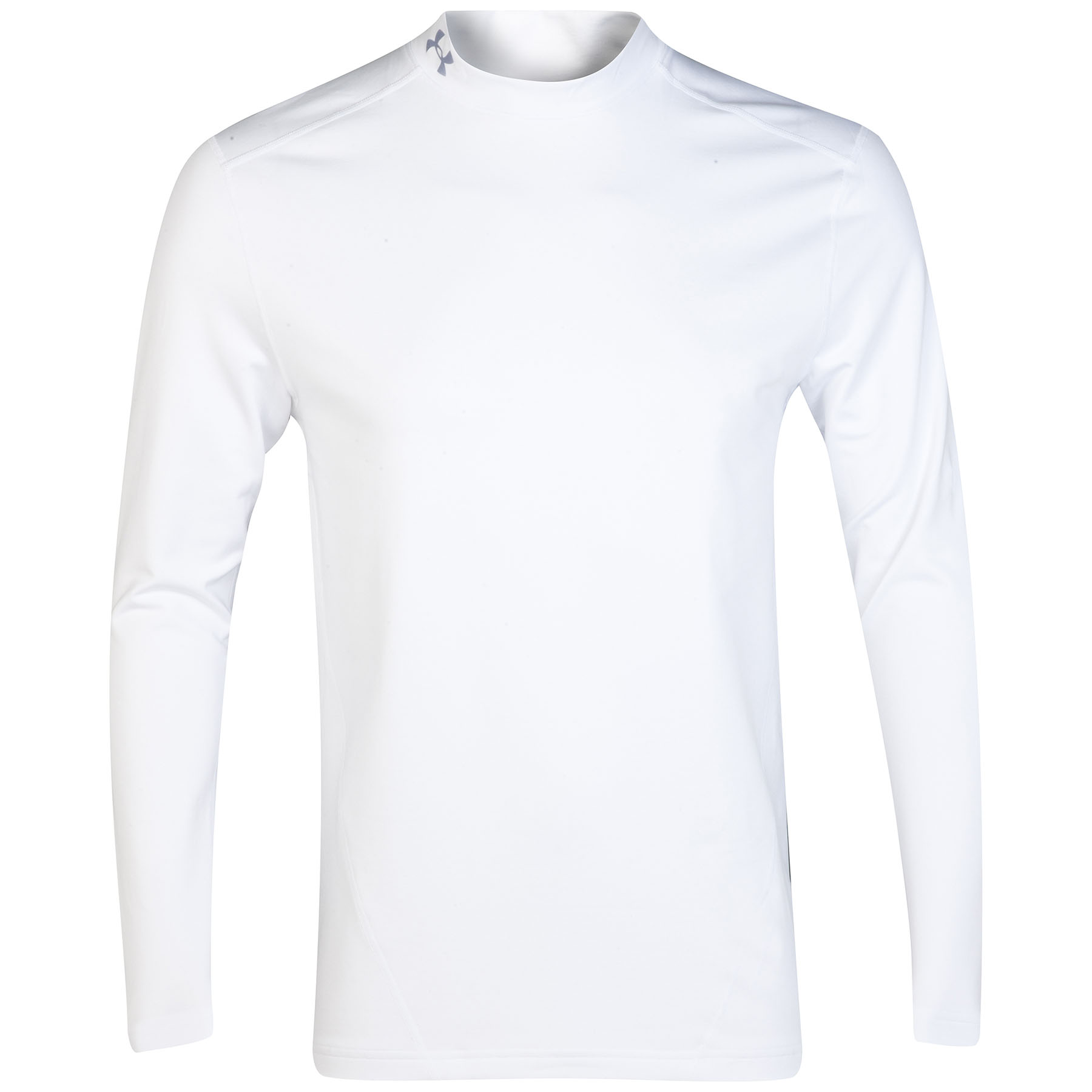 Under Armour Evo Coldgear Compression Mock Baselayer Top - Long Sleeve White