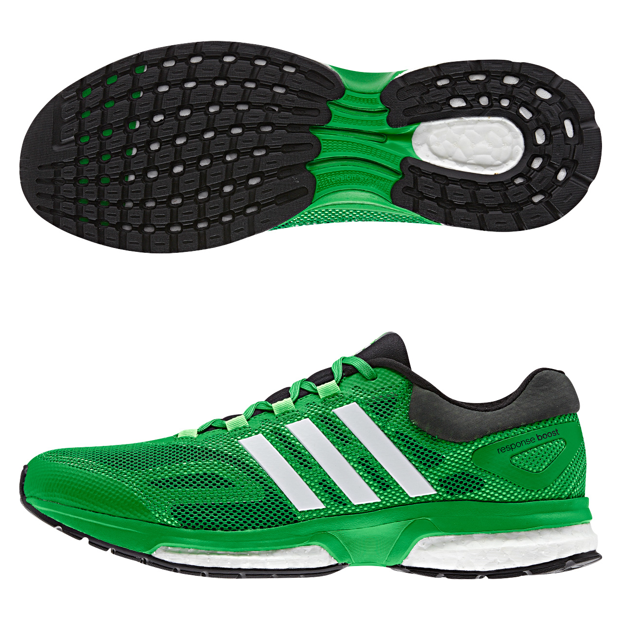 Adidas Response Boost Trainers Lt Green