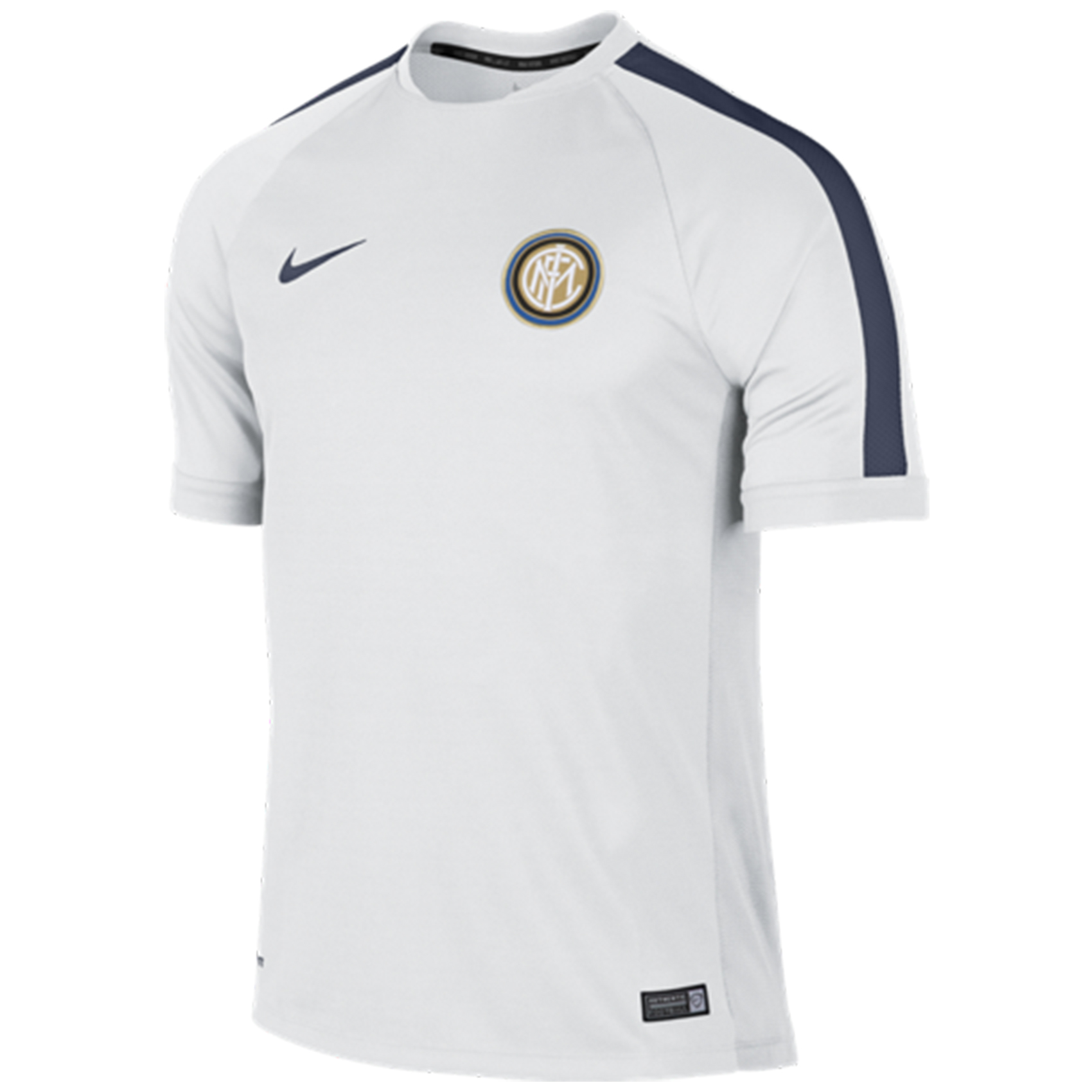Inter Milan Squad Short Sleeve Training Top White