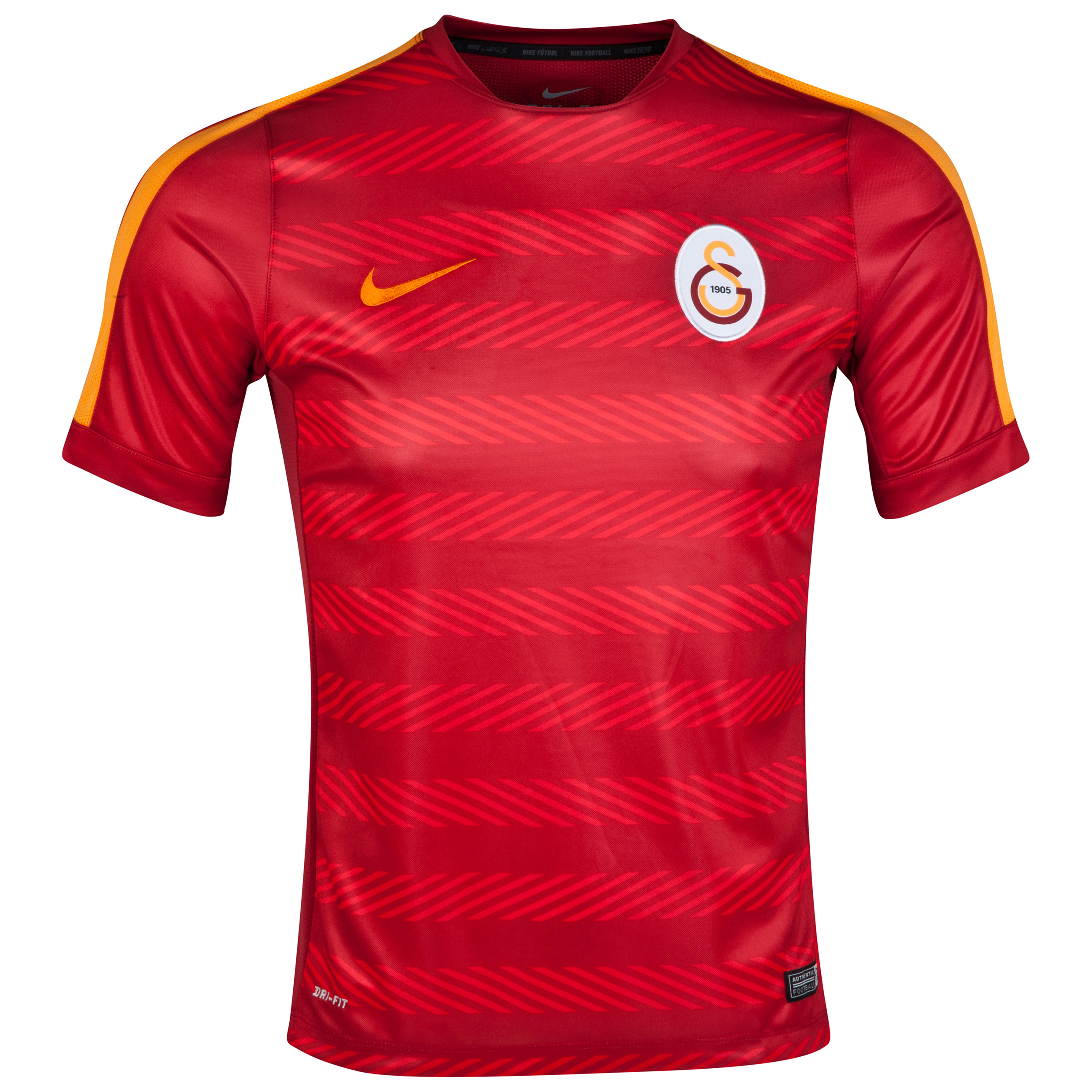 Galatasaray Squad Short Sleeve Pre Match Top Red