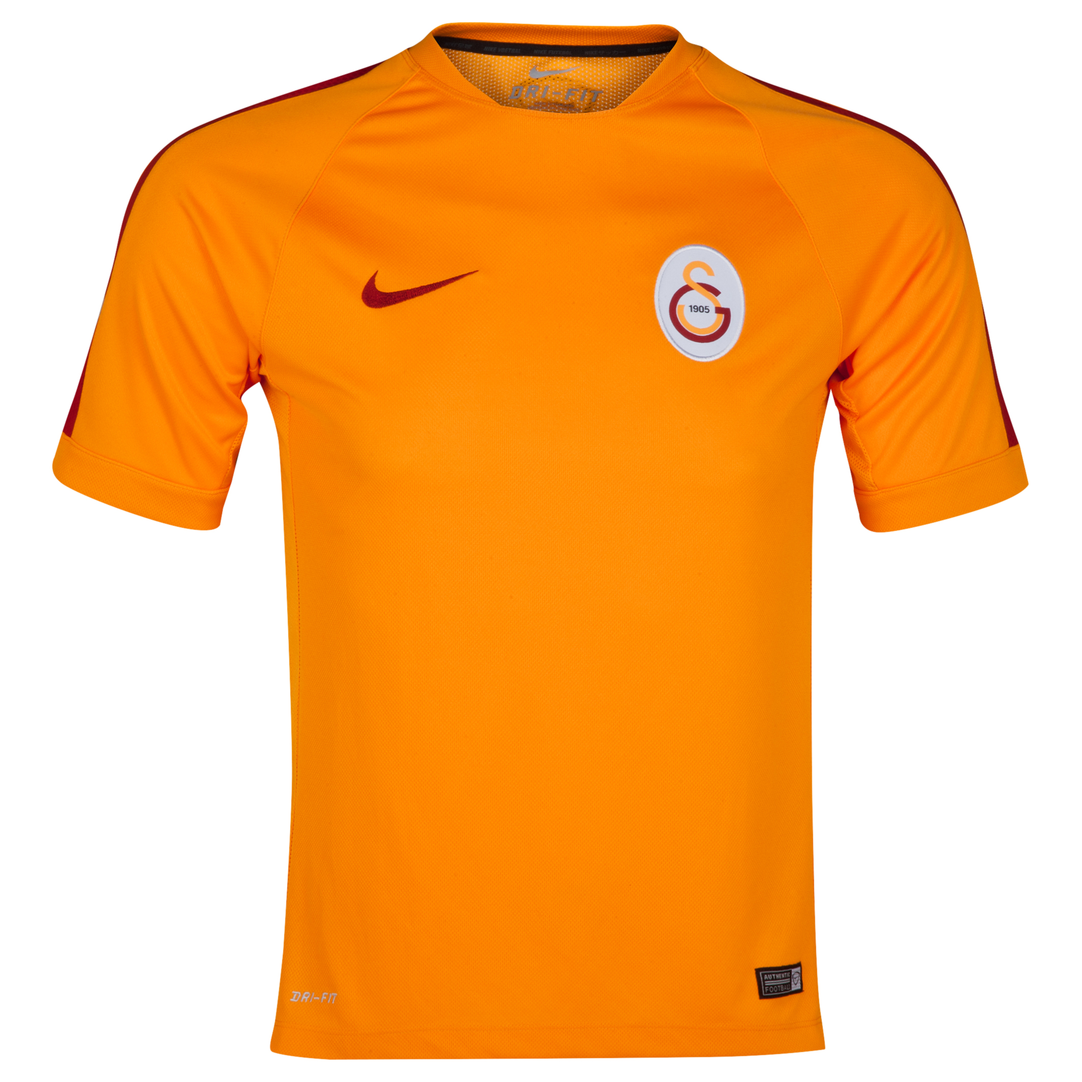 Galatasaray Squad Short Sleeve Training Top Orange