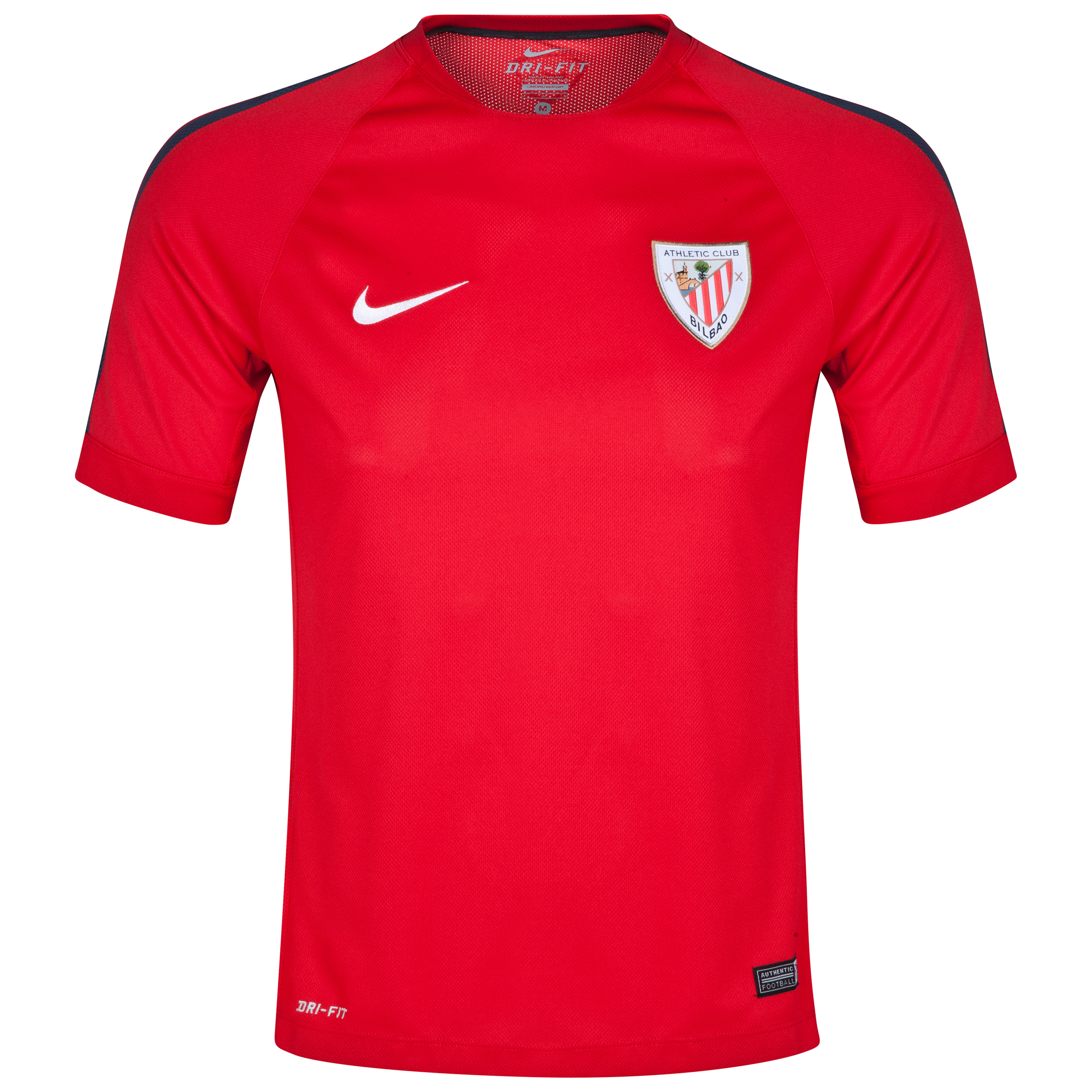 Athletico Bilbao Squad Short Sleeve Training Top Red
