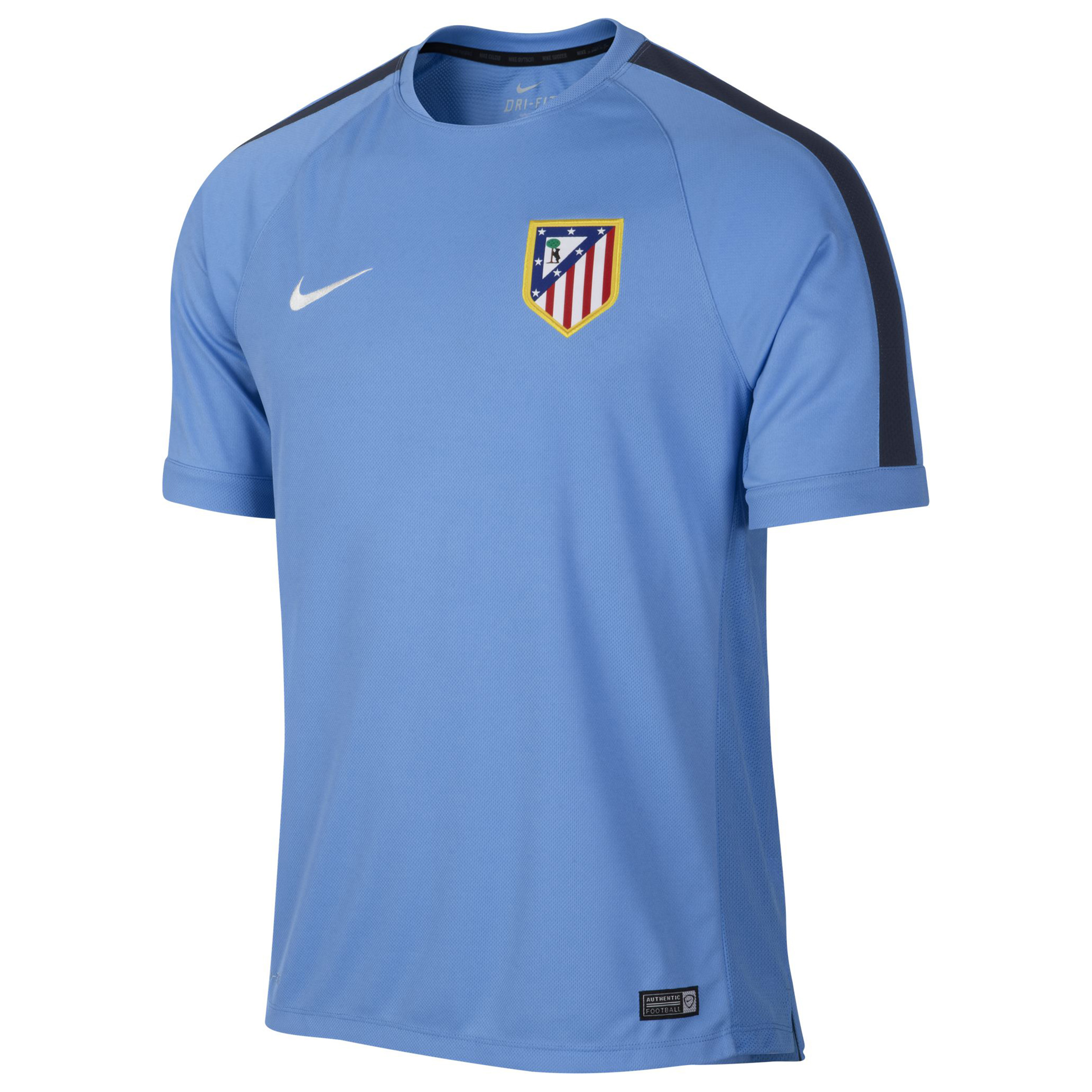 Atletico Madrid Squad Short Sleeve Training Top Blue