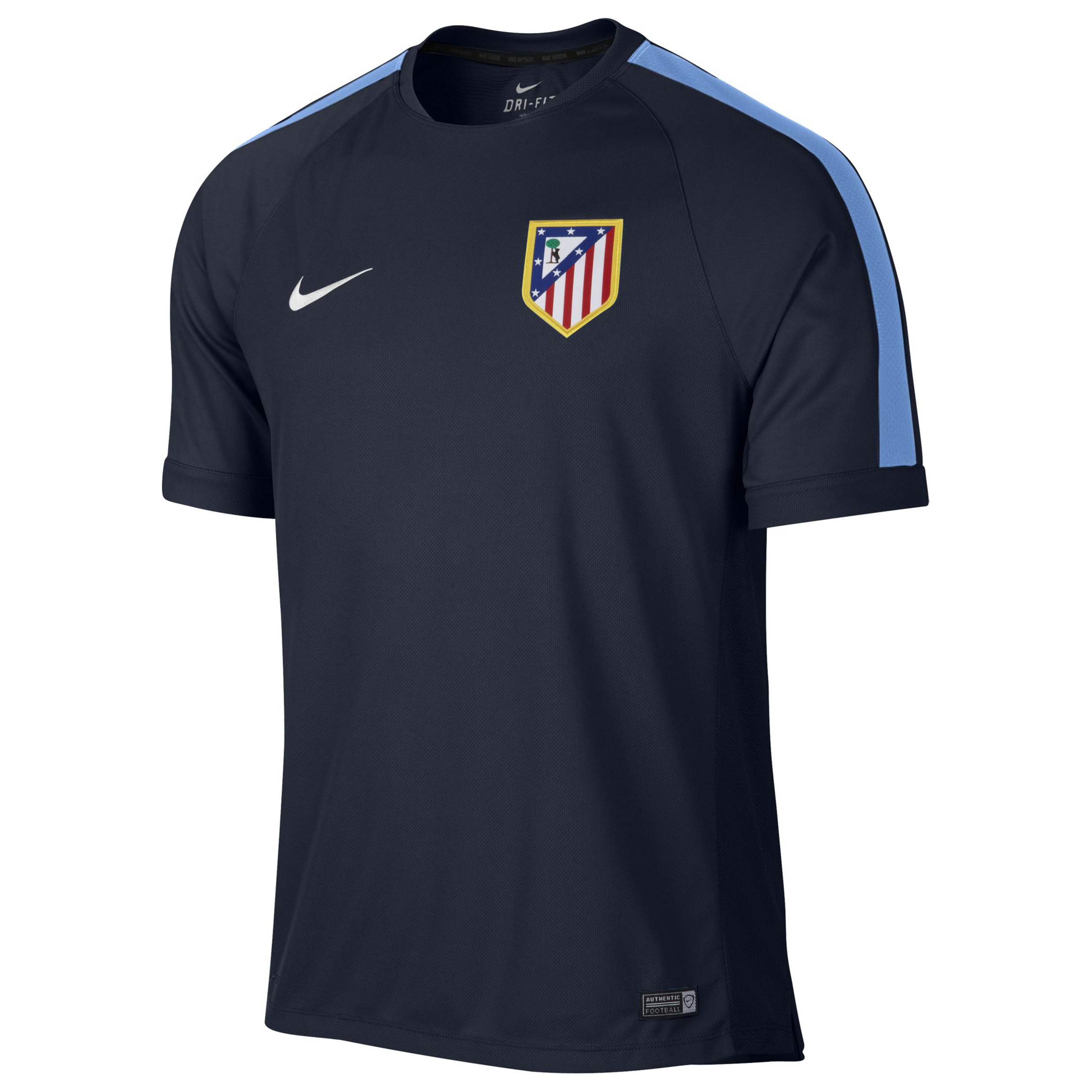 Atletico Madrid Squad Short Sleeve Training Top Navy